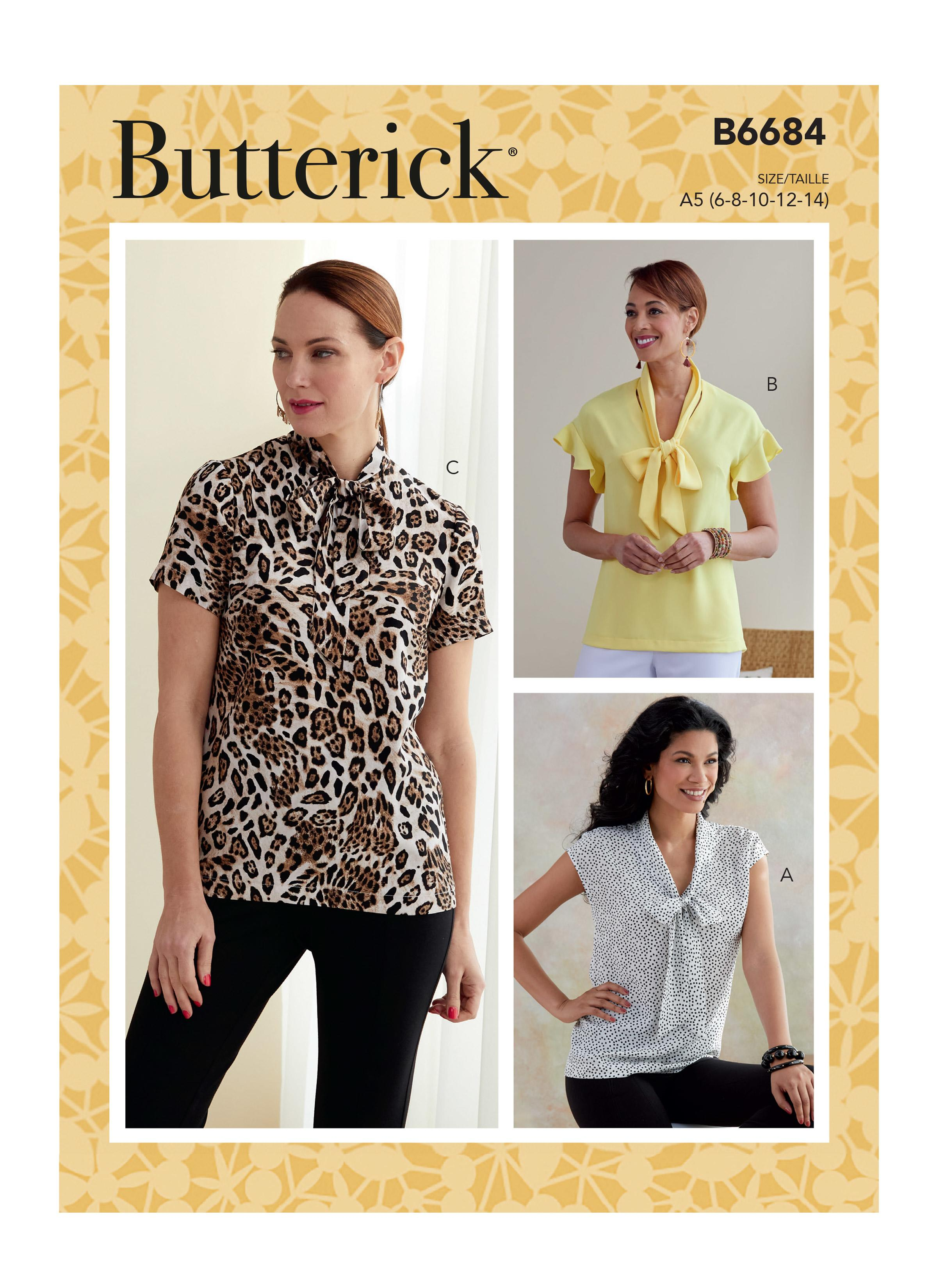 Butterick B6684 Misses' Top