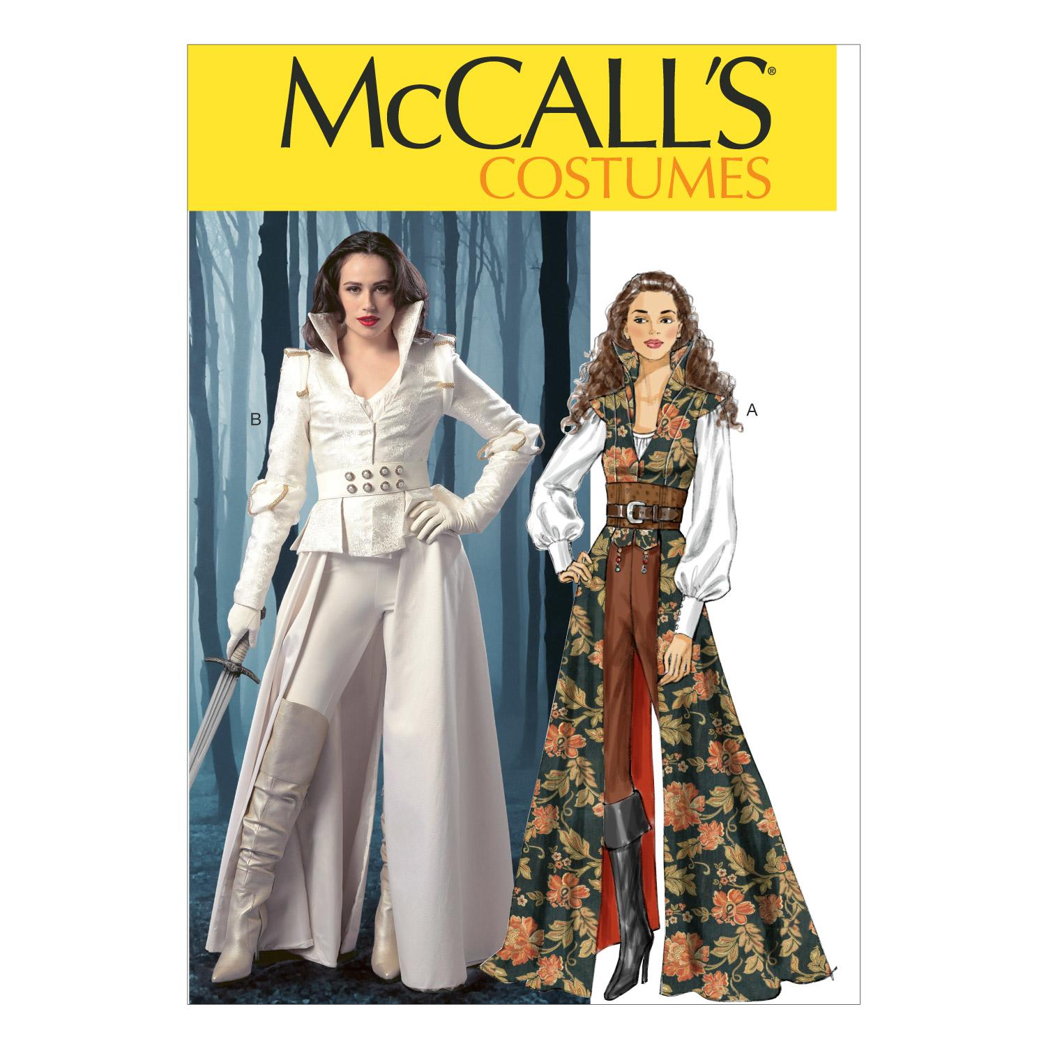 McCalls M6819 Accessories, Coats, Corsets, Costumes, Halloween, Tops, Shirts & Tunics