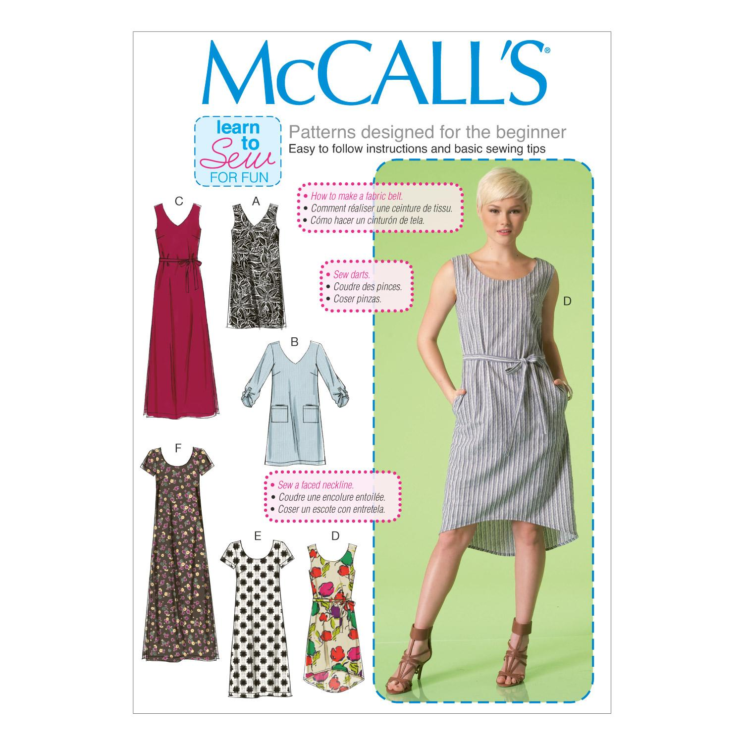 McCalls M7120 Dresses, Learn To Sew for Fun