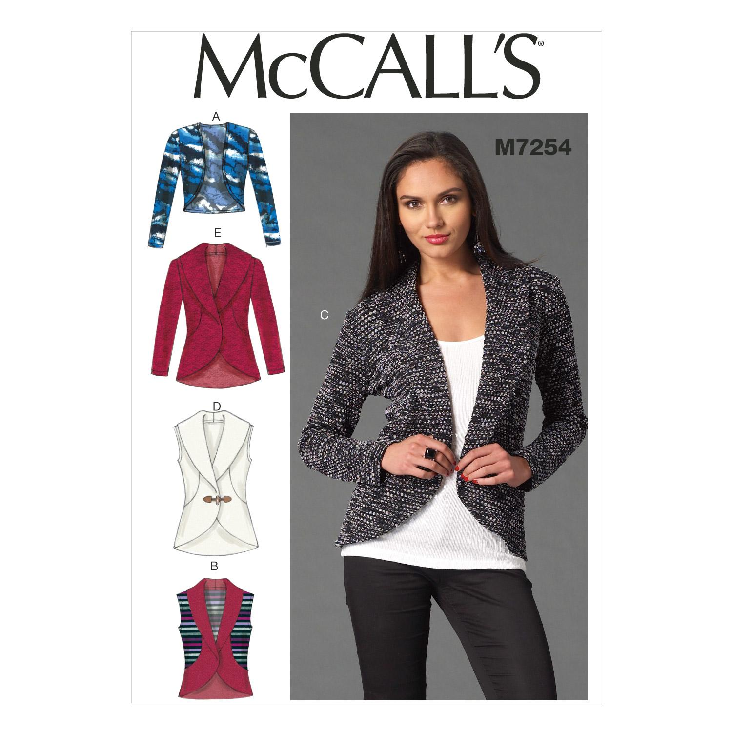 McCalls M7254 Jackets/Vests