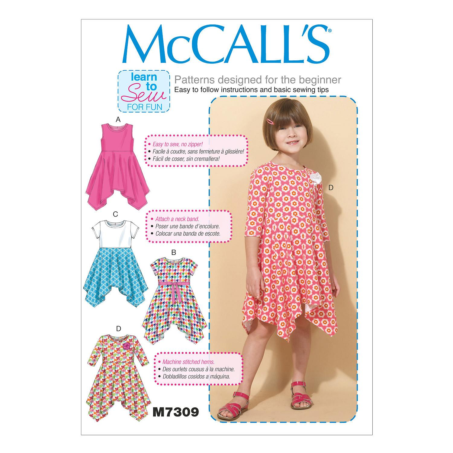 McCalls M7309 Children, Girls/Boys, Learn To Sew for Fun
