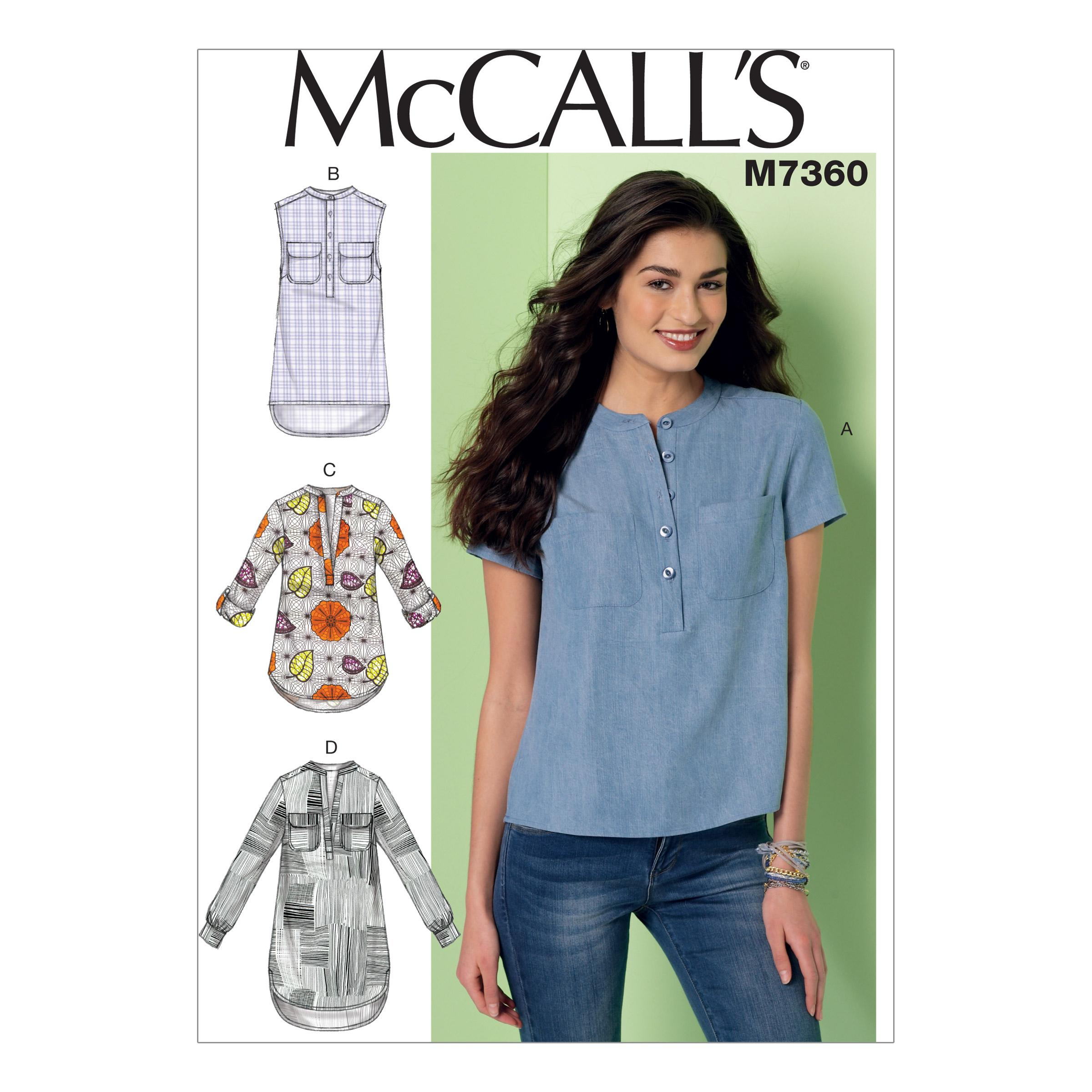 McCalls M7360 Tops/Tunics