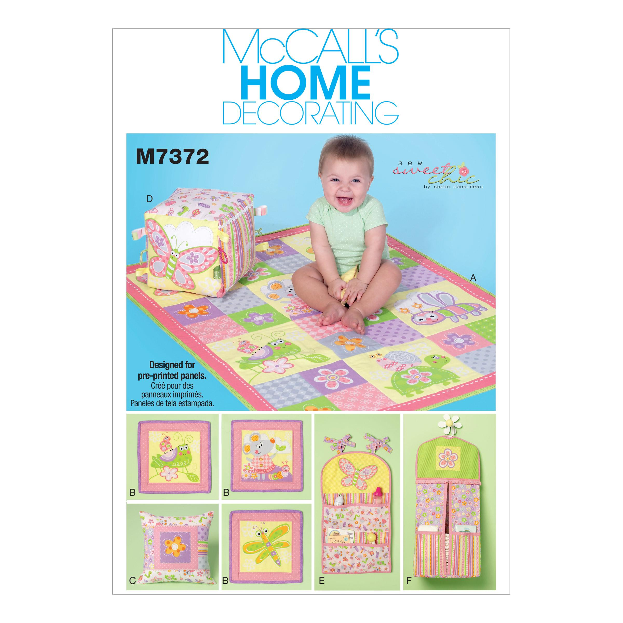 McCalls M7372 Home Decorating, Infants/Toddlers