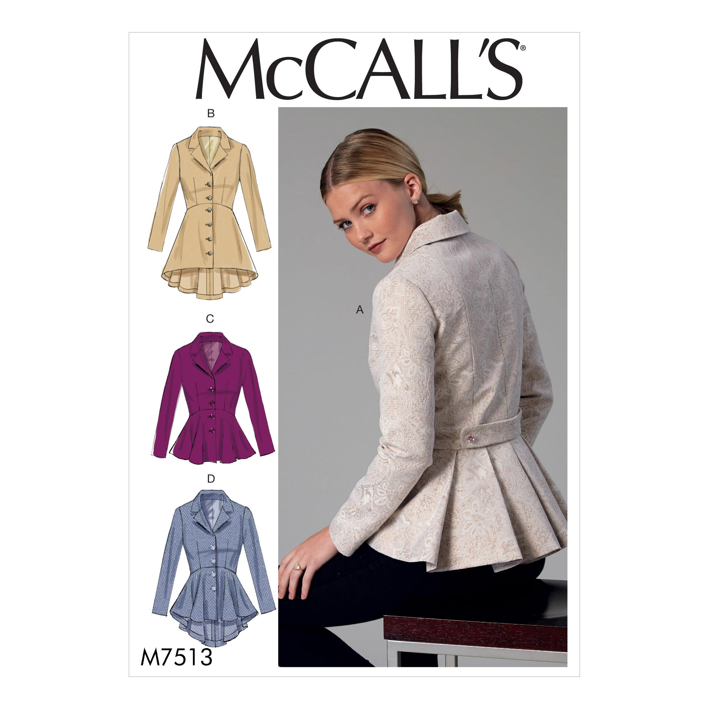 McCalls M7513 Misses Jackets & Vests