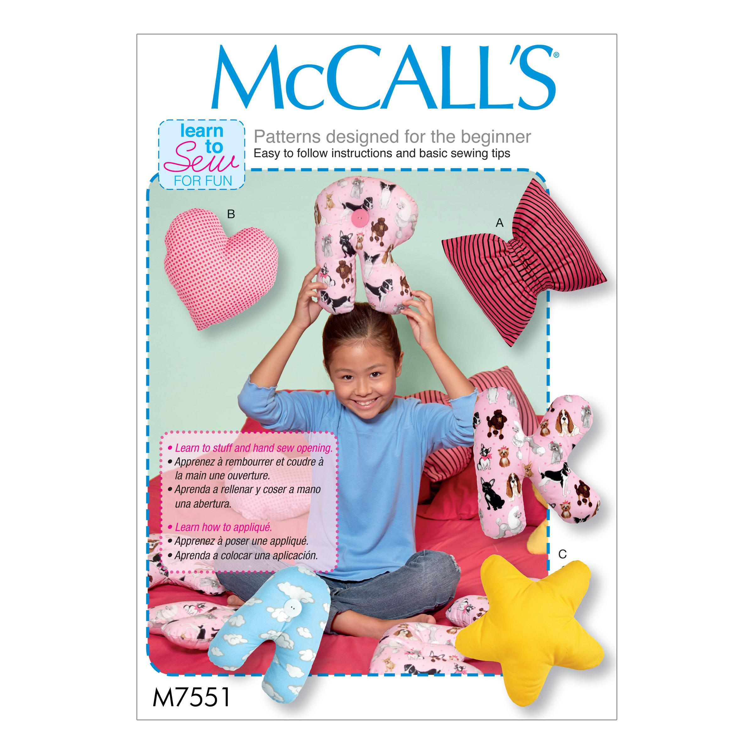 McCalls M7551 Crafts Dolls & Toys