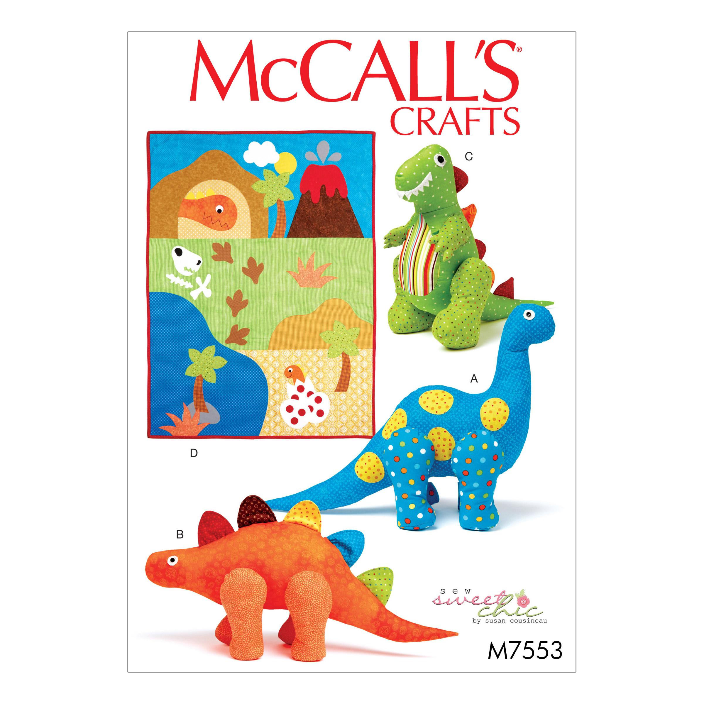 McCalls M7553 Crafts Dolls & Toys