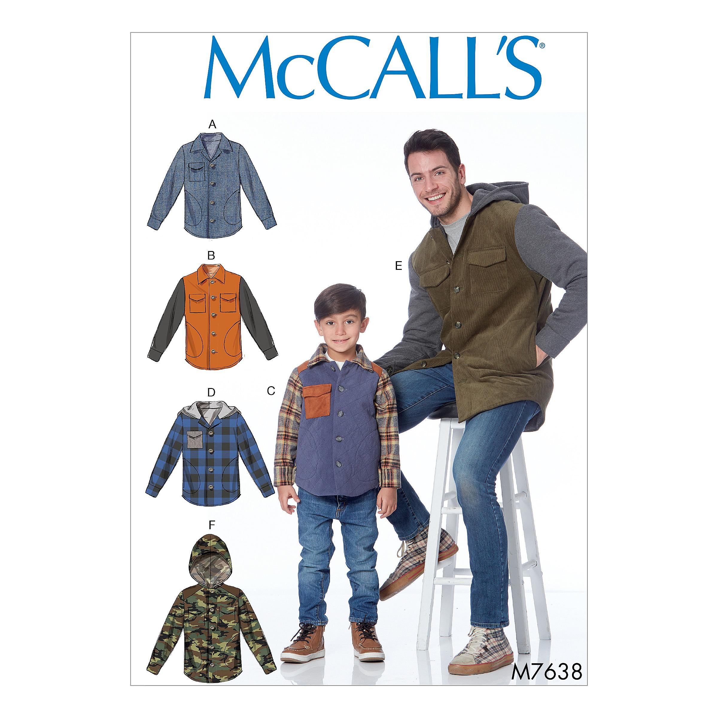 McCalls M7638 Kids Girls & Boys, Kids Children, Men
