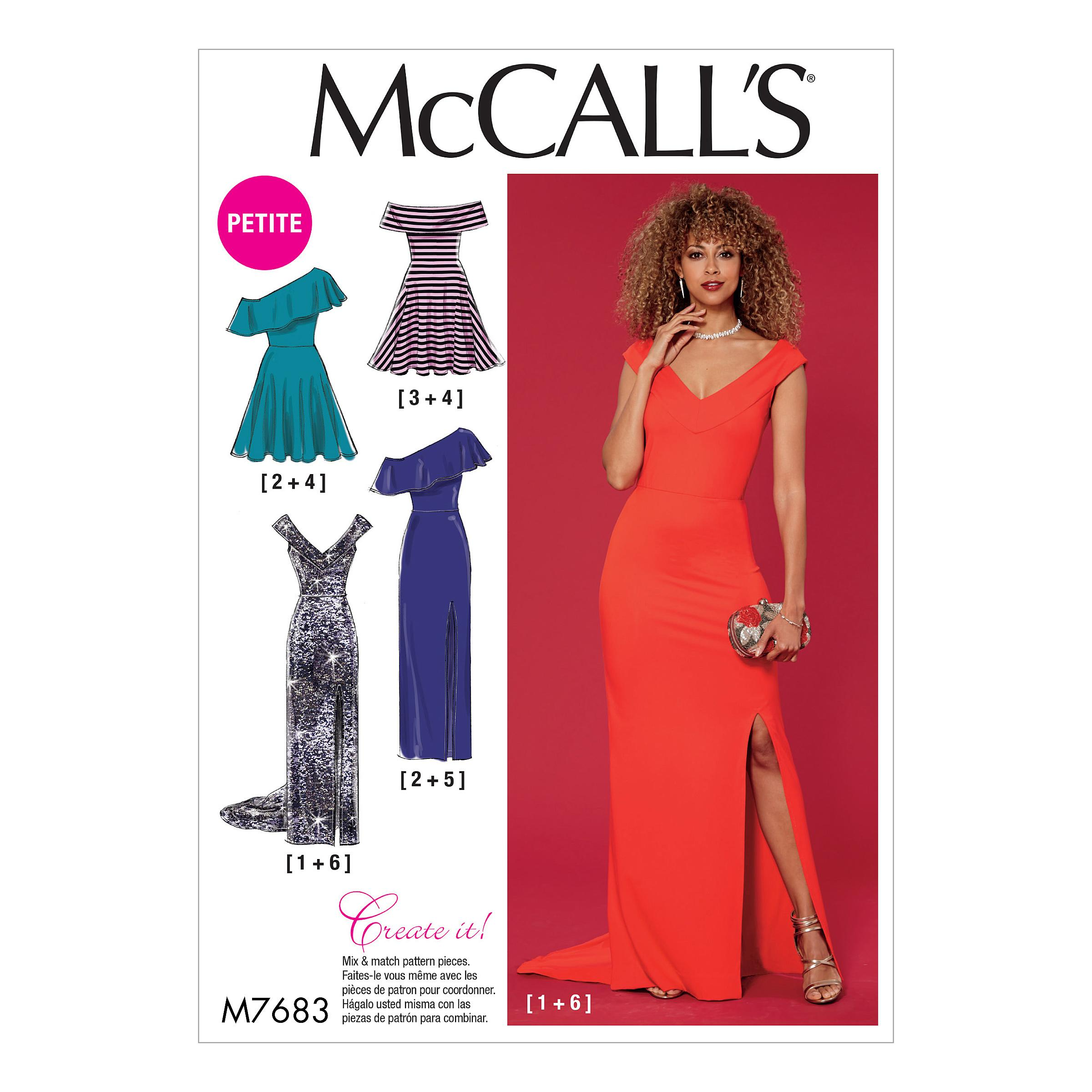 McCalls M7683 Misses Dresses, Misses Prom, Evening & Bridal