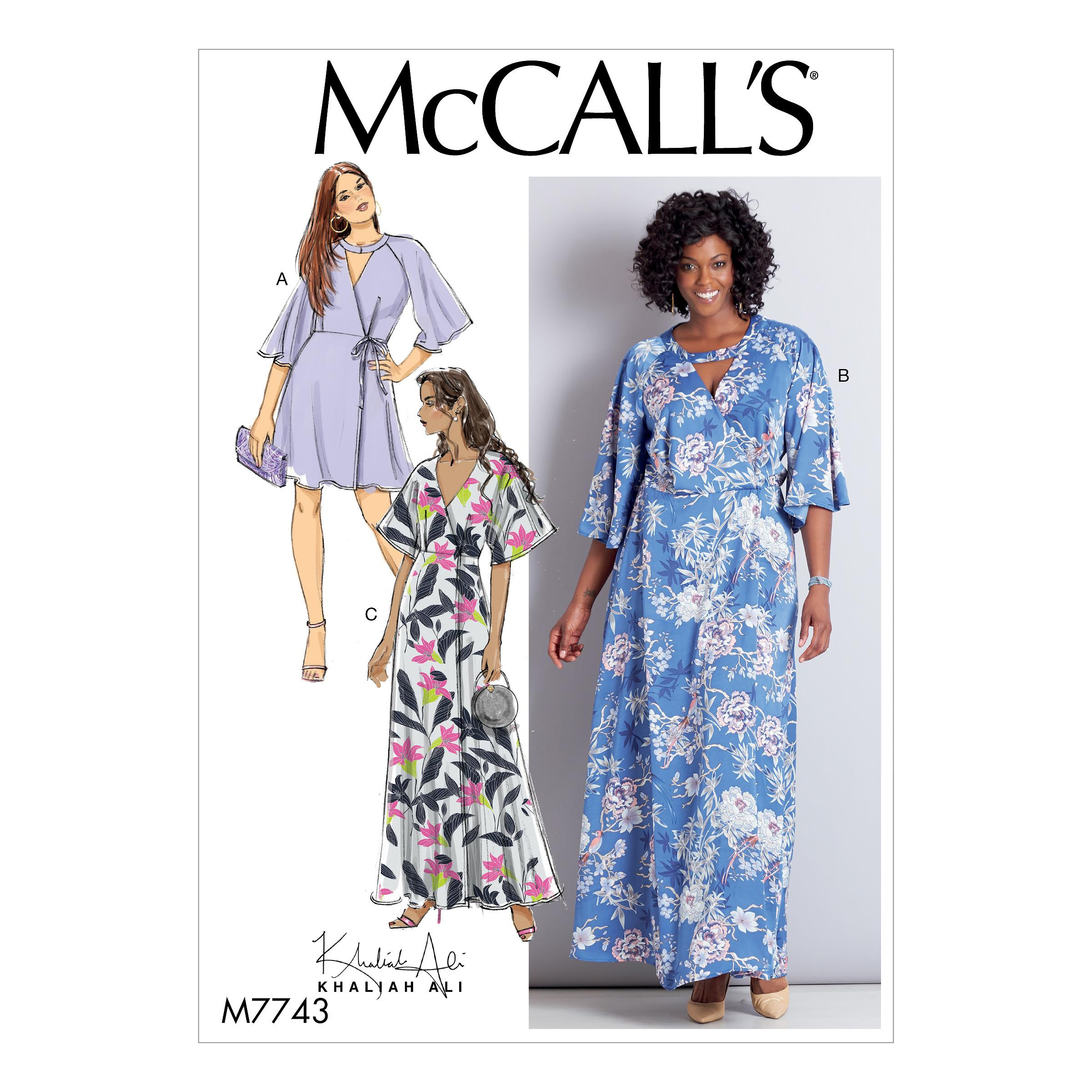 McCalls M7743 Misses Dresses, Plus Sizes