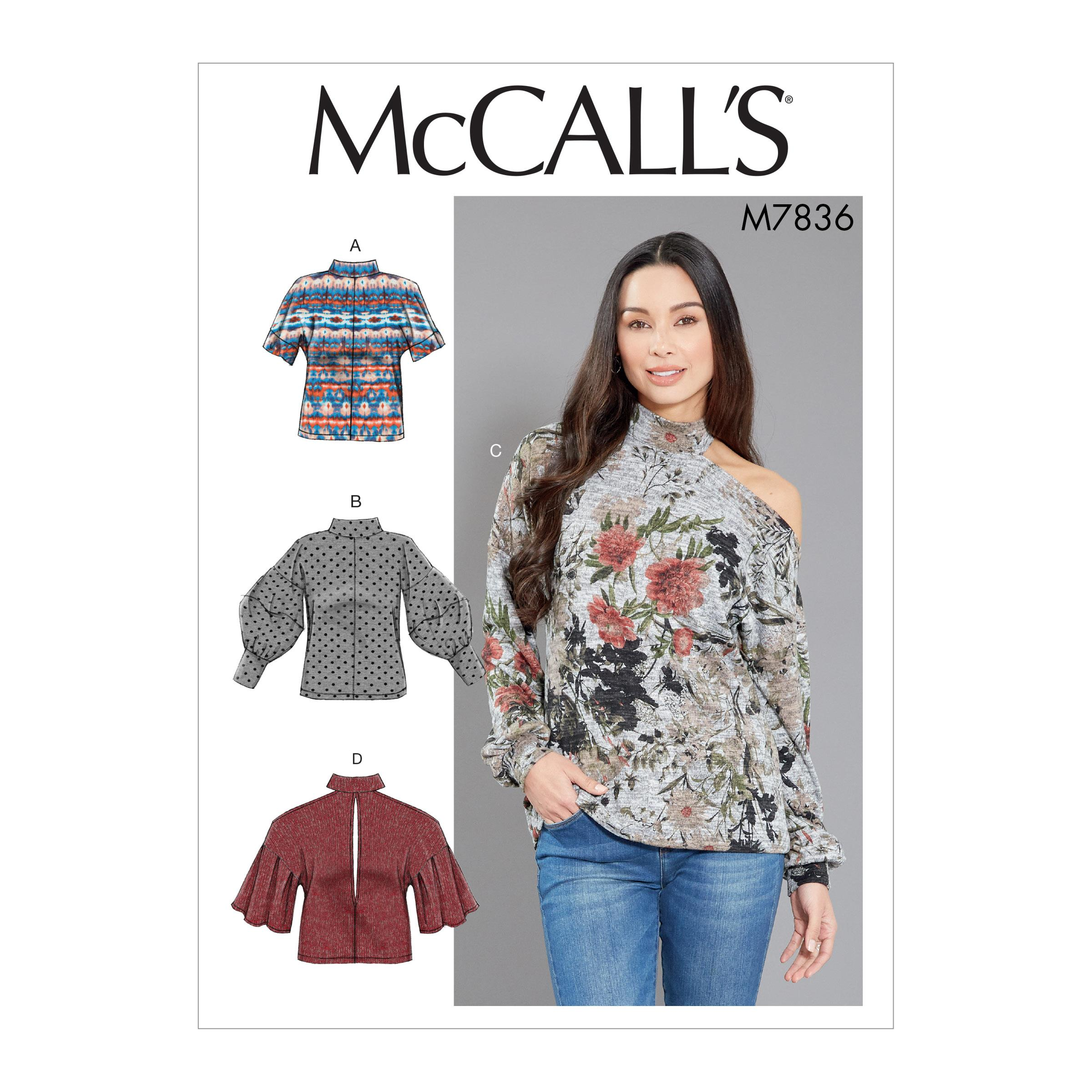 McCalls M7836 Misses Tops