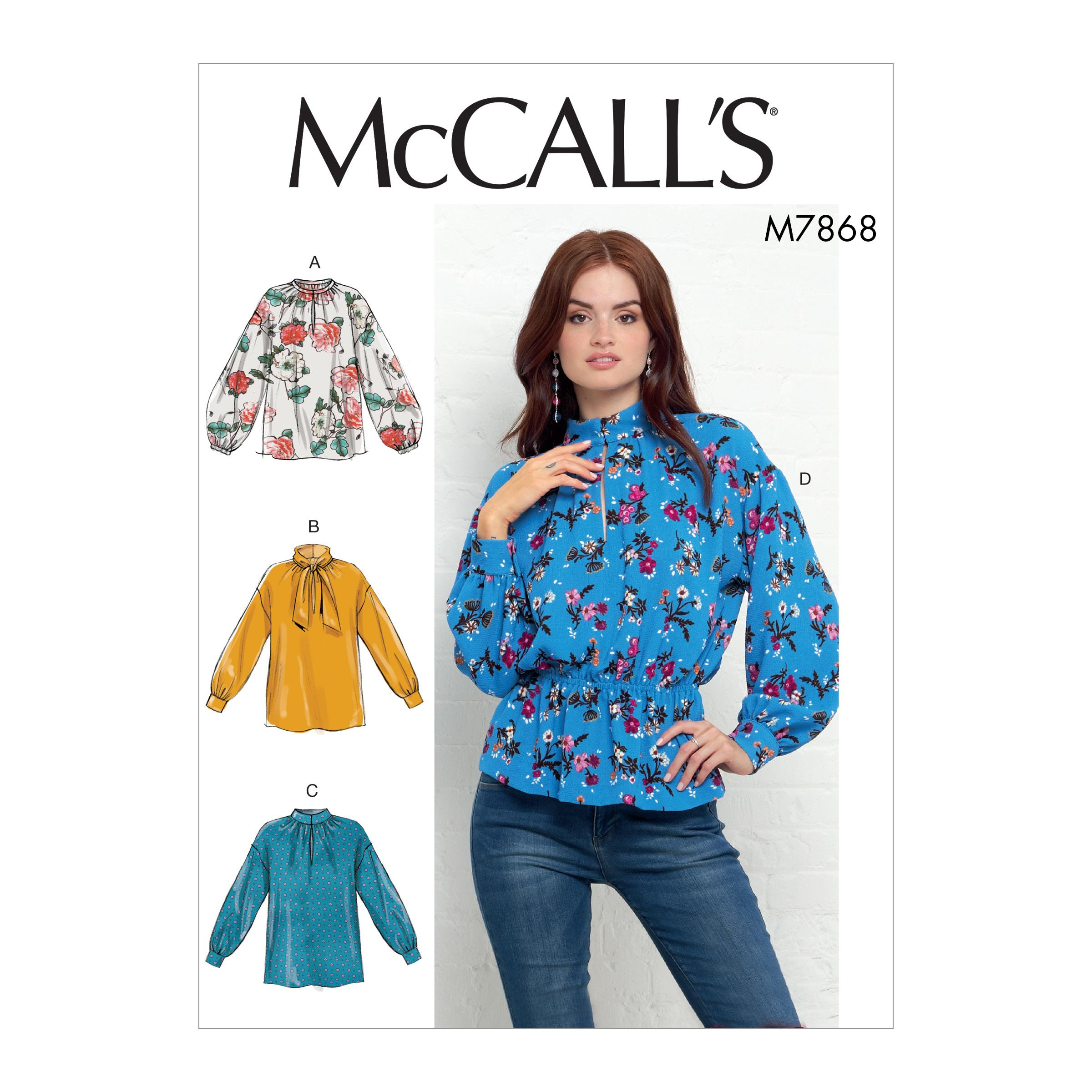 McCalls M7868 Misses Tops