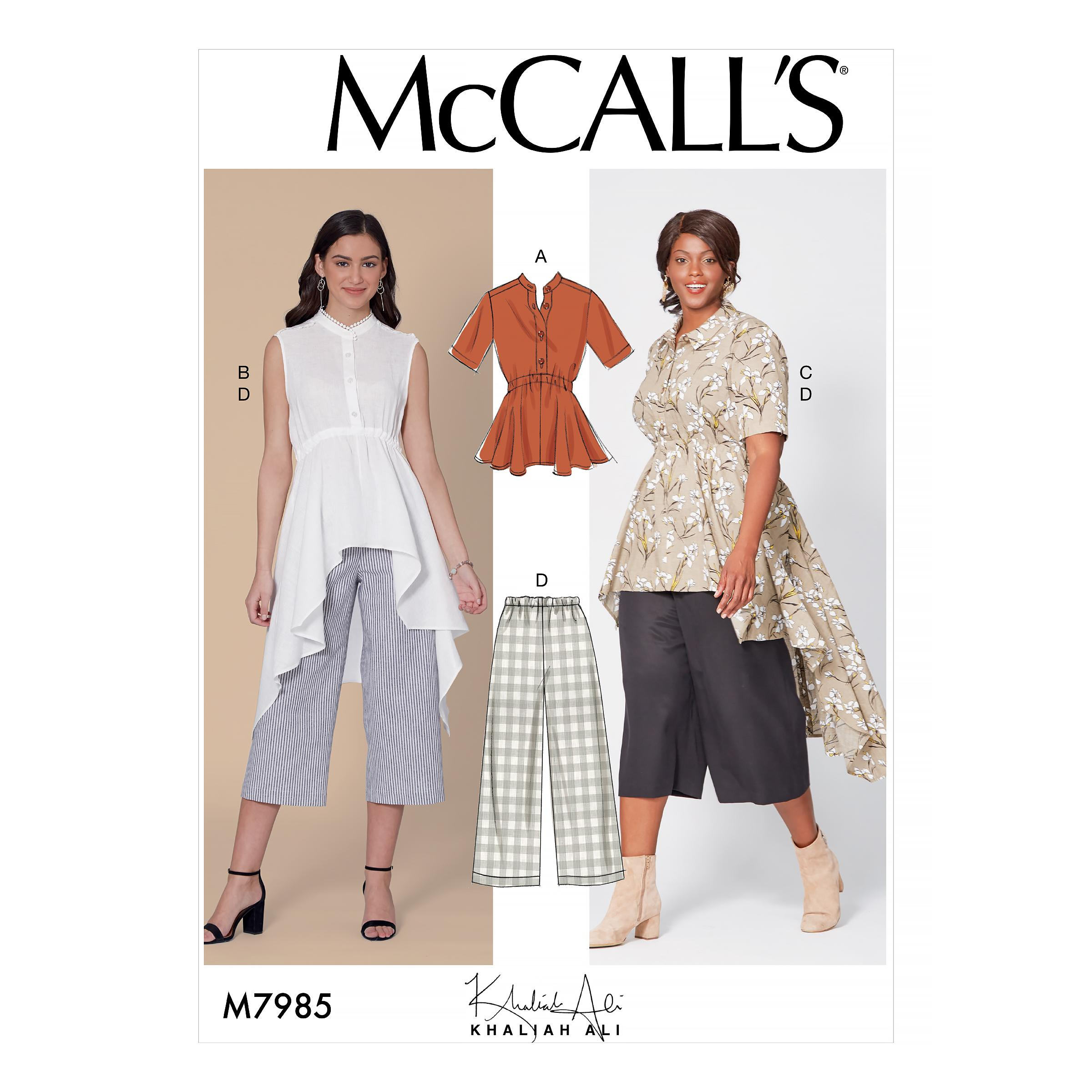 McCalls M7985 Misses Tops, Misses Skirts, Misses Coordinates, Plus Sizes