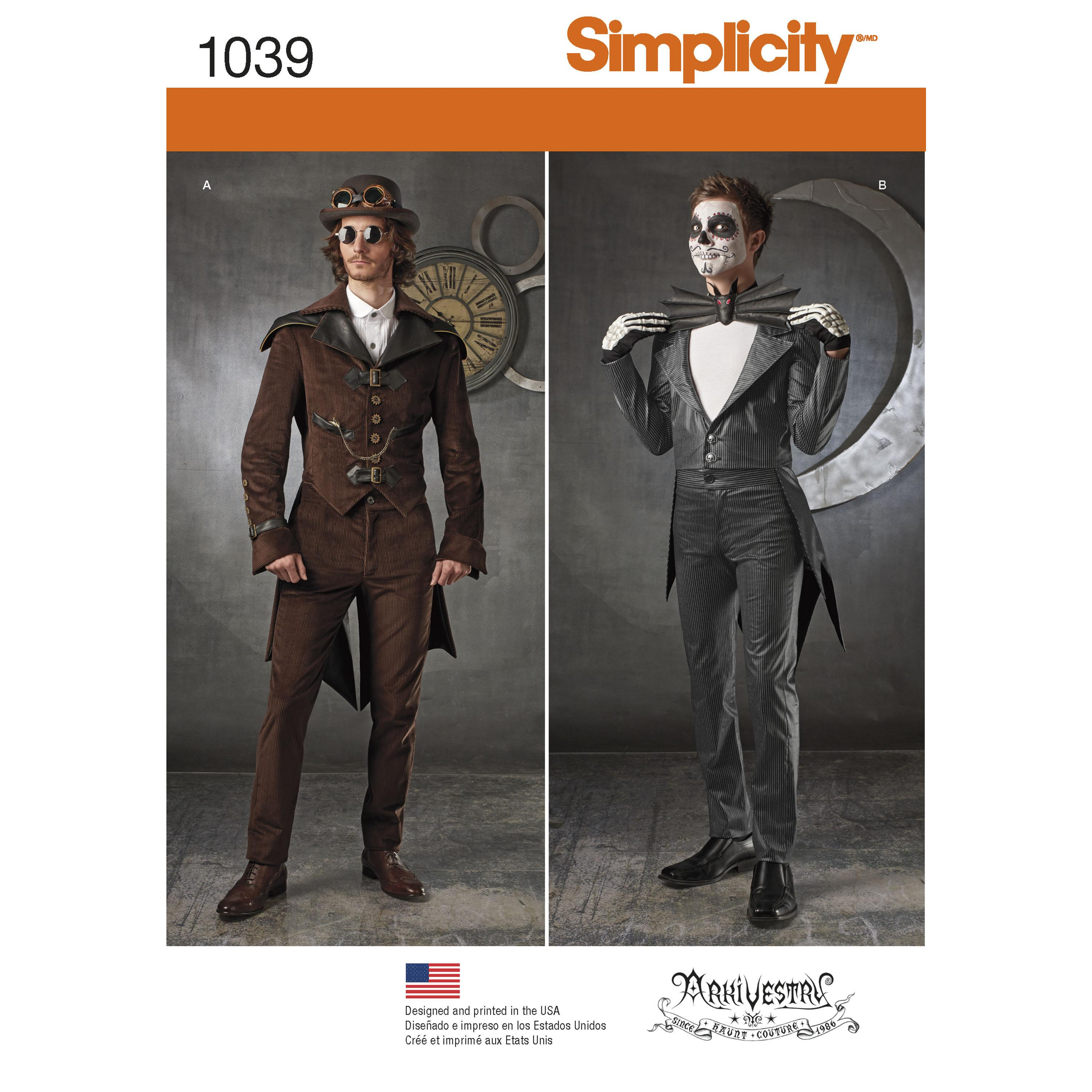Simplicity S1039 Men's Cosplay Costumes