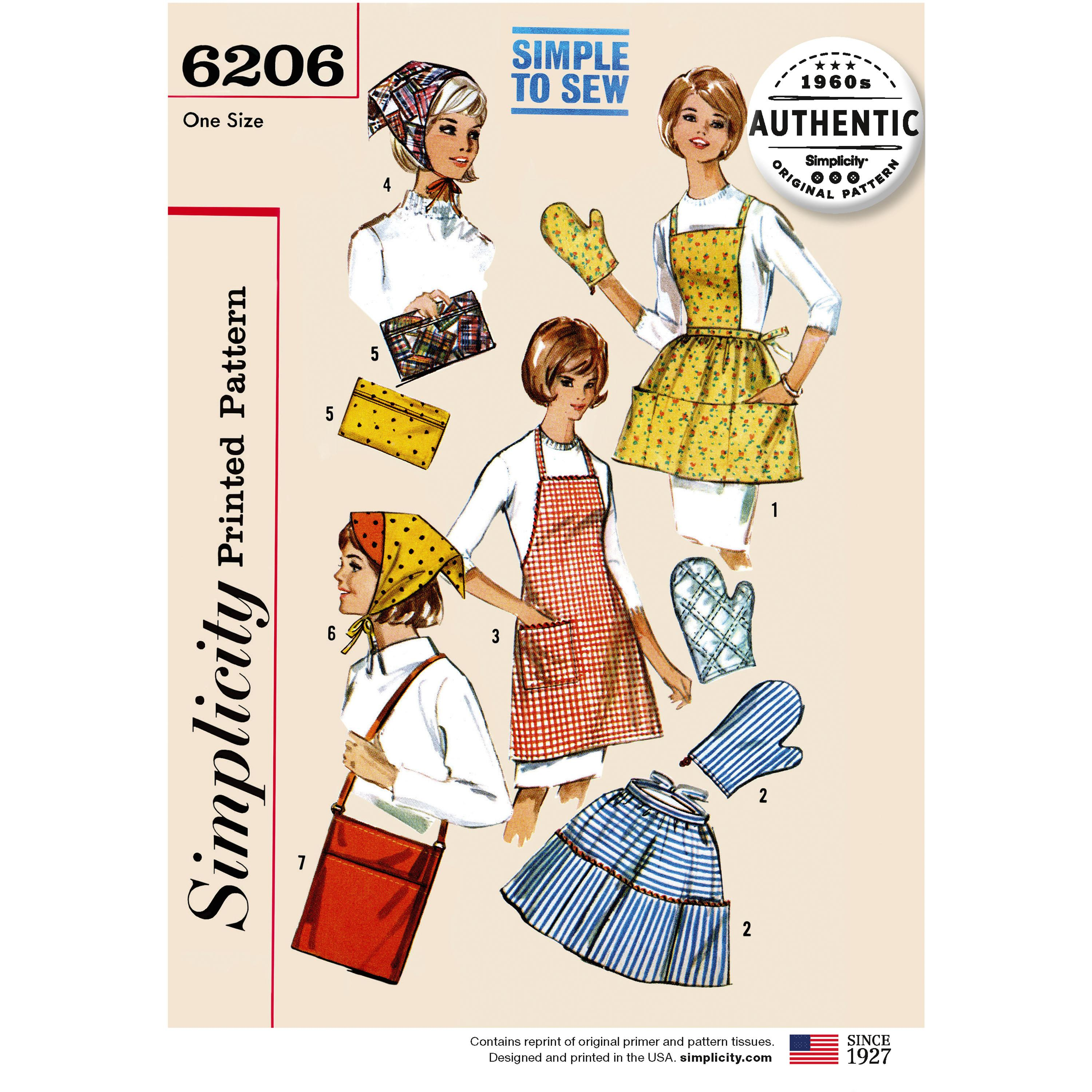 Simplicity S6206 Vintage Gift and Accessories