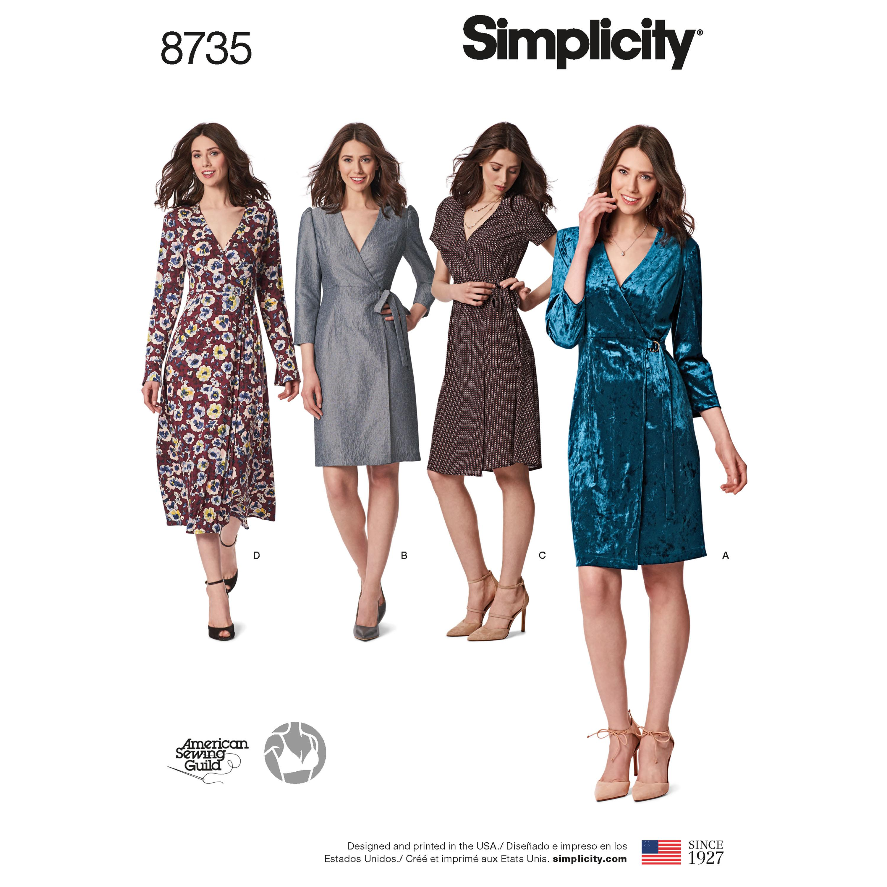 Simplicity S8735 Womens / Petite Womens   Wrap Dress