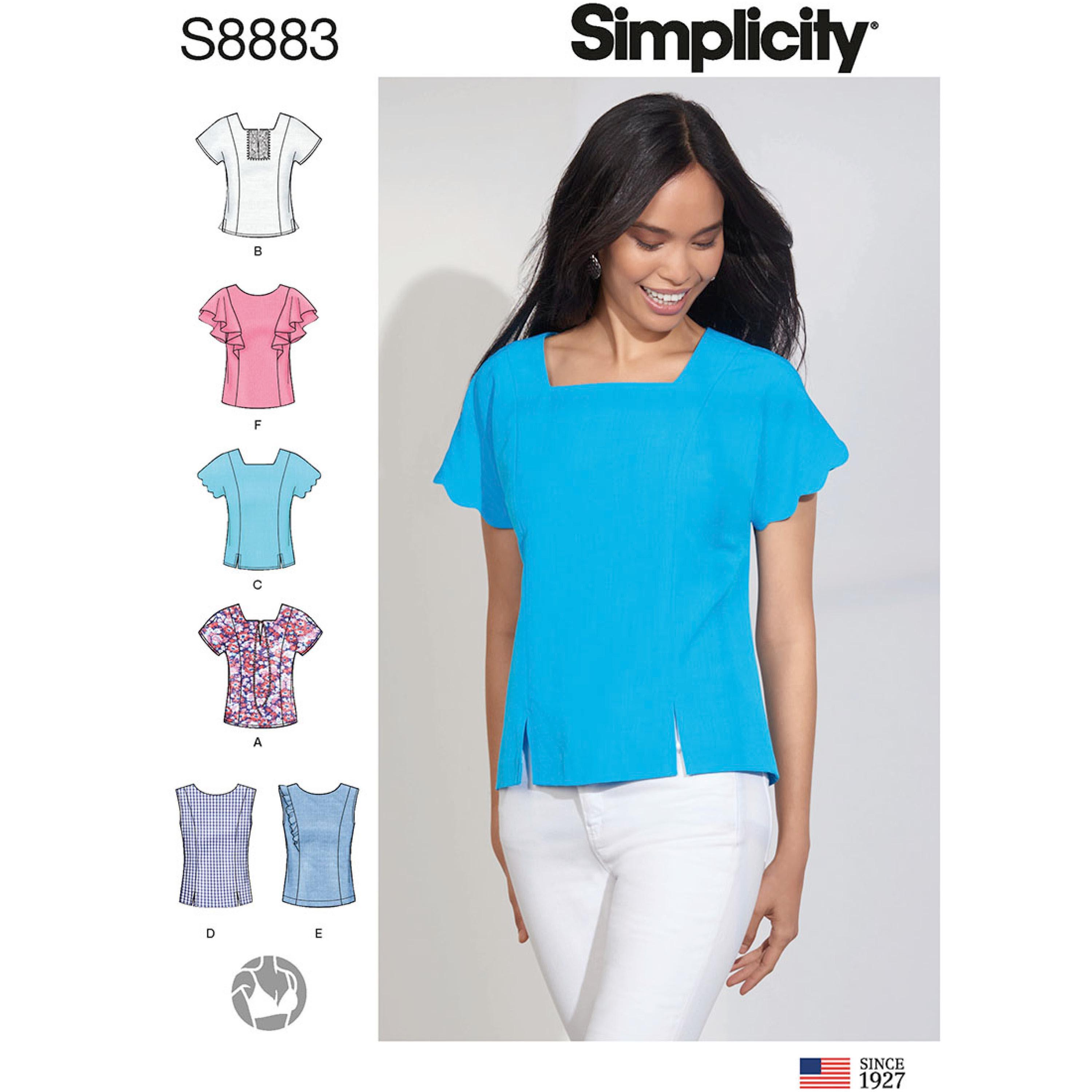 Simplicity S8883 Misses' Tops