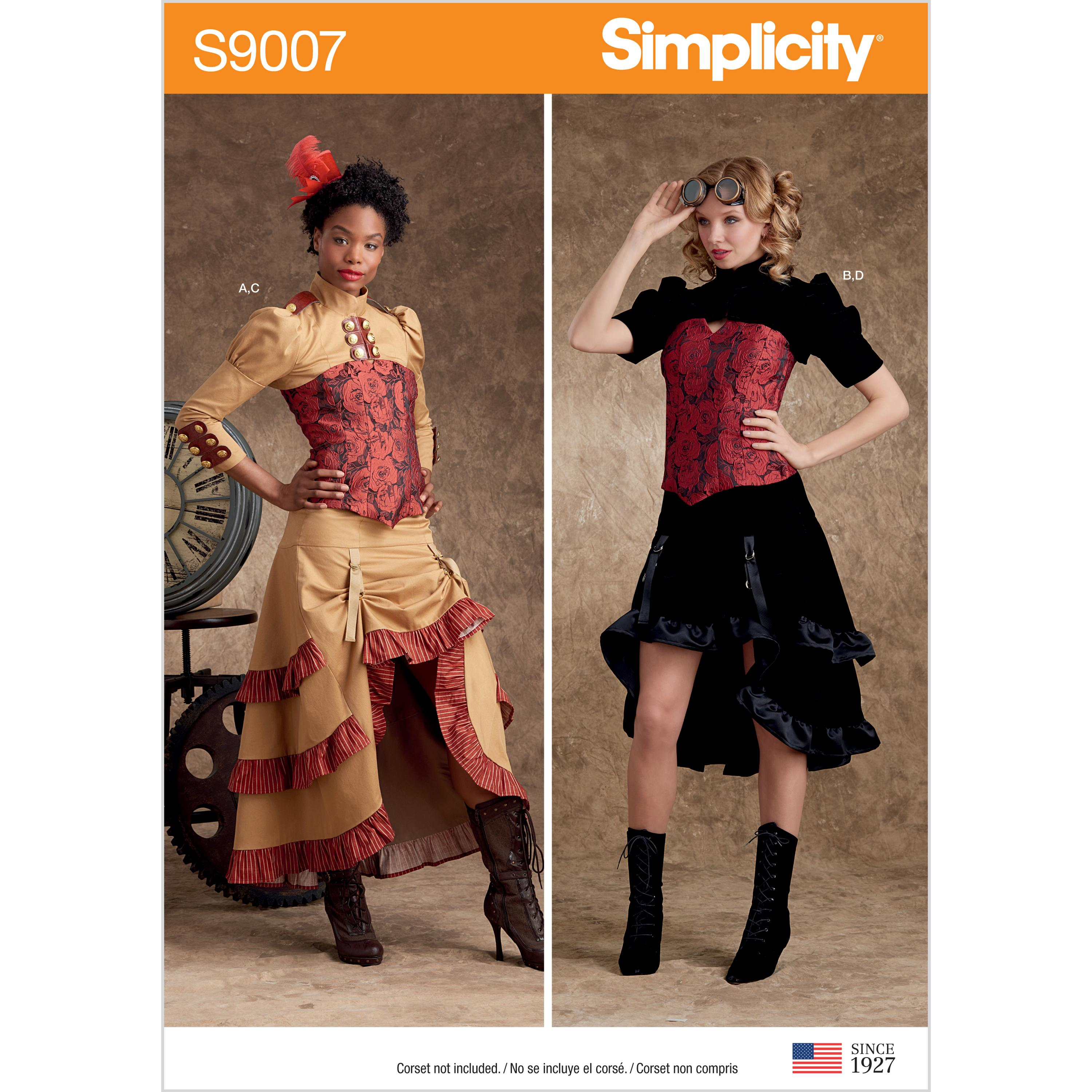 Simplicity S9007 Misses' Steampunk Costumes