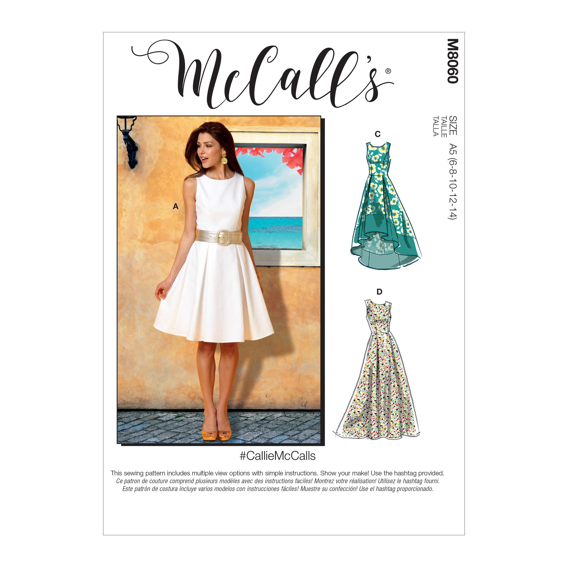 McCalls M8060 Misses Dresses|Misses Prom, Evening & Bridal