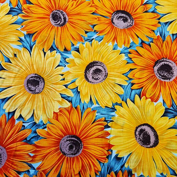 Vibrant Sunflowers Cotton Lawn