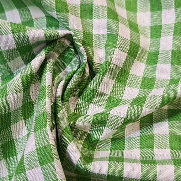 "1/4"" Gingham Polycotton Lime"