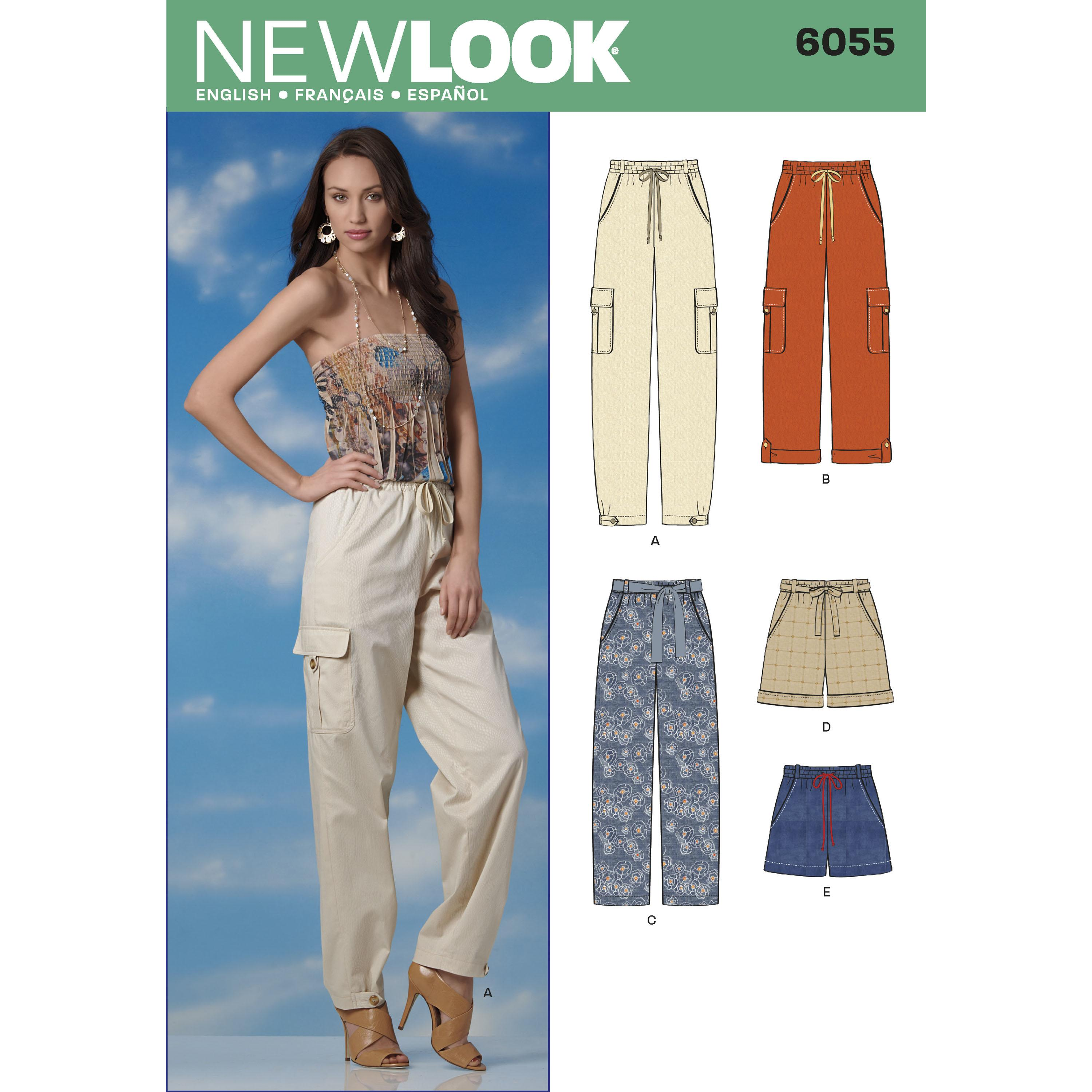 NewLook N6055 Misses' Pants & Shorts