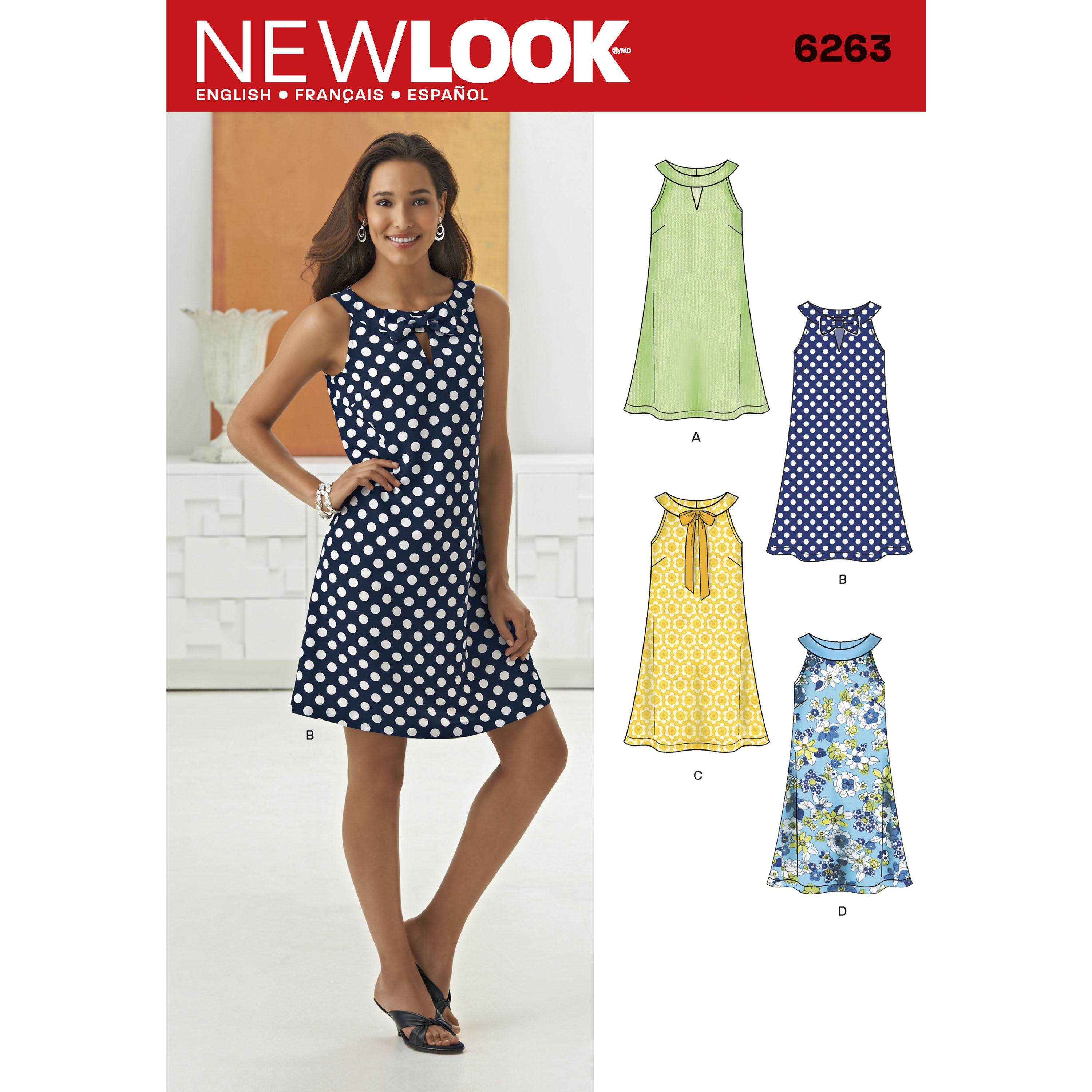 NewLook N6263 Misses' A- Line Dress