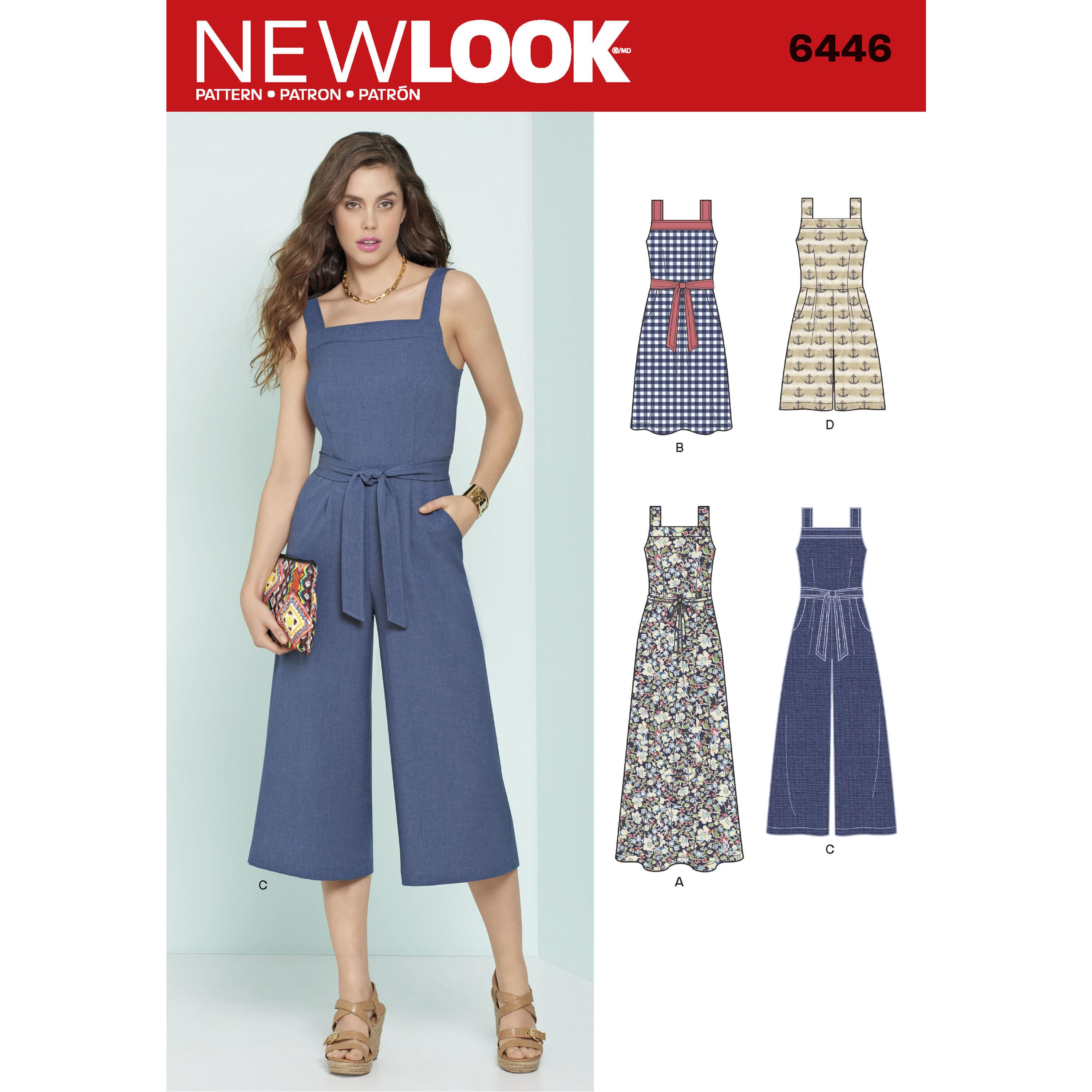 NewLook N6446 Misses' Jumpsuits and Dresses