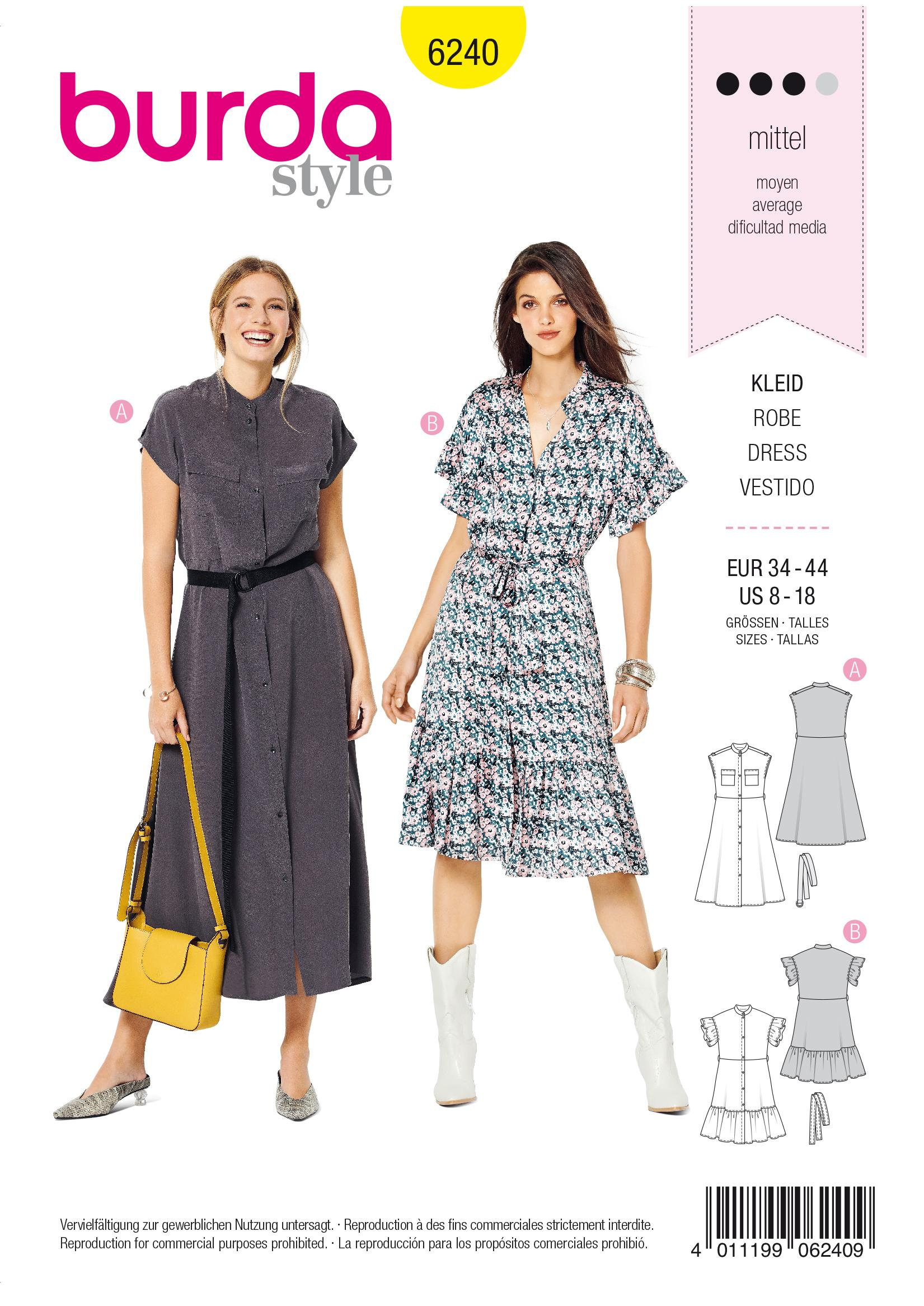 Burda B6240 Dress Sewing Pattern