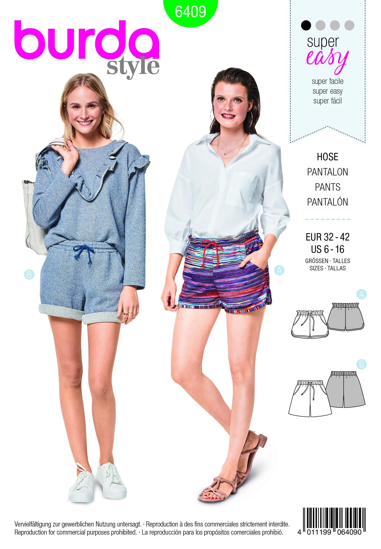 Burda B6409 Misses Shorts with Pockets