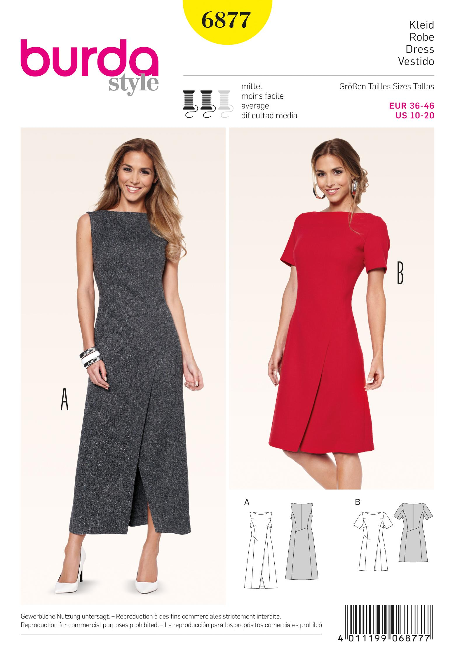Burda B6877 Dress Sewing Pattern