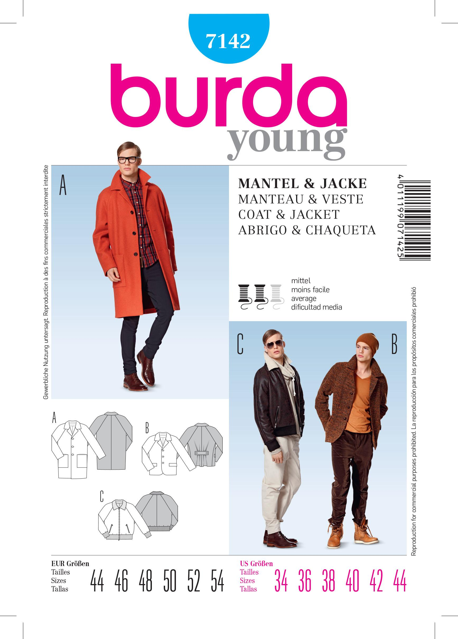 Burda B7142 Coat &Jacket Sewing Pattern
