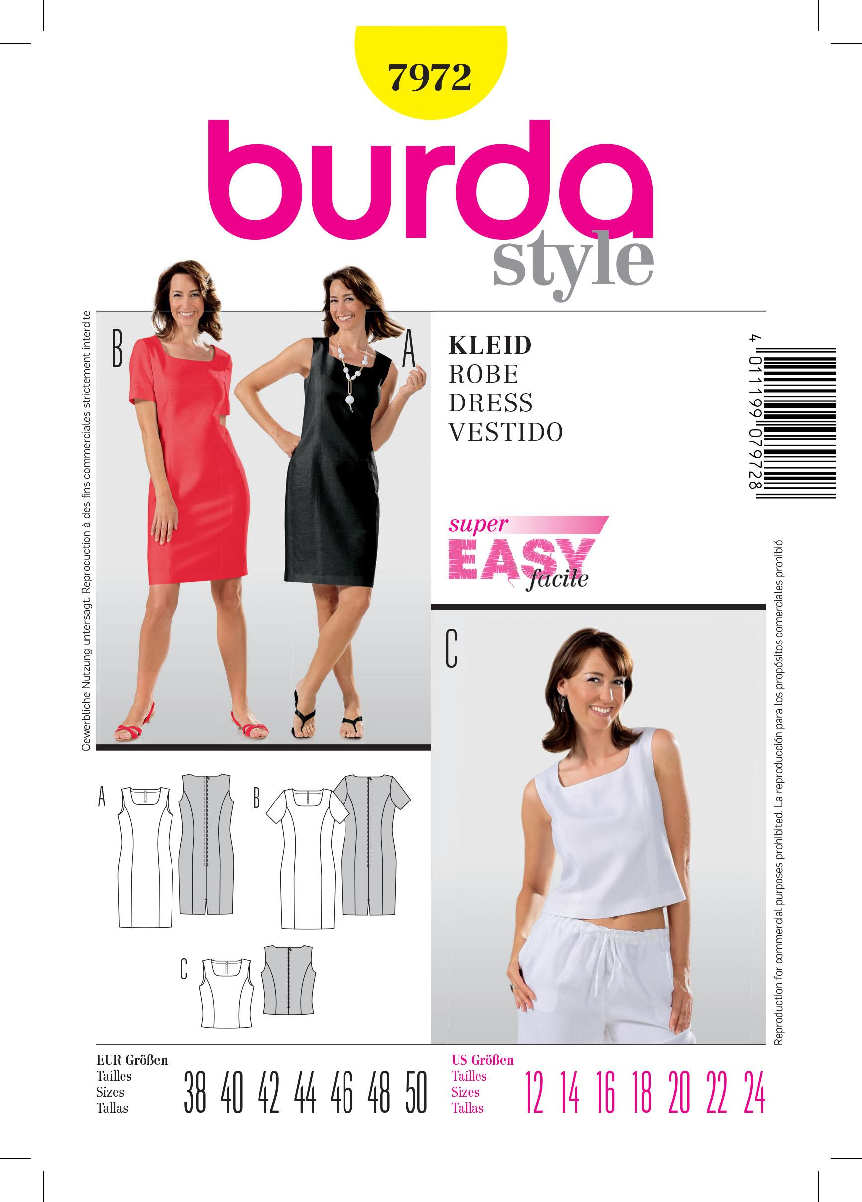 Burda B7972 Dress Sewing Pattern