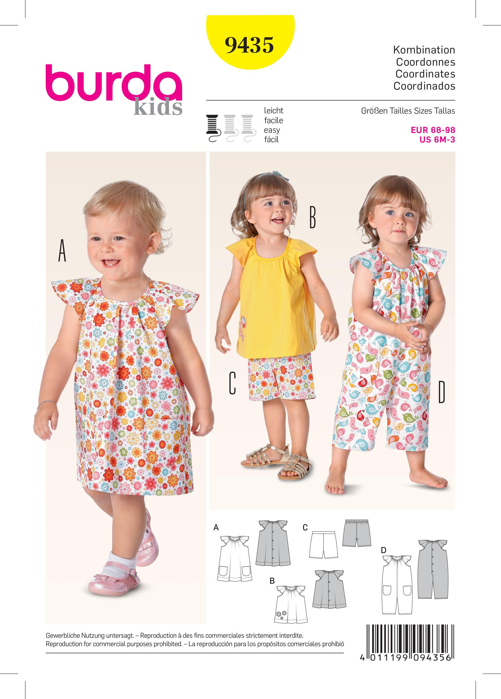 Burda B9435 Burda Baby Sewing Pattern