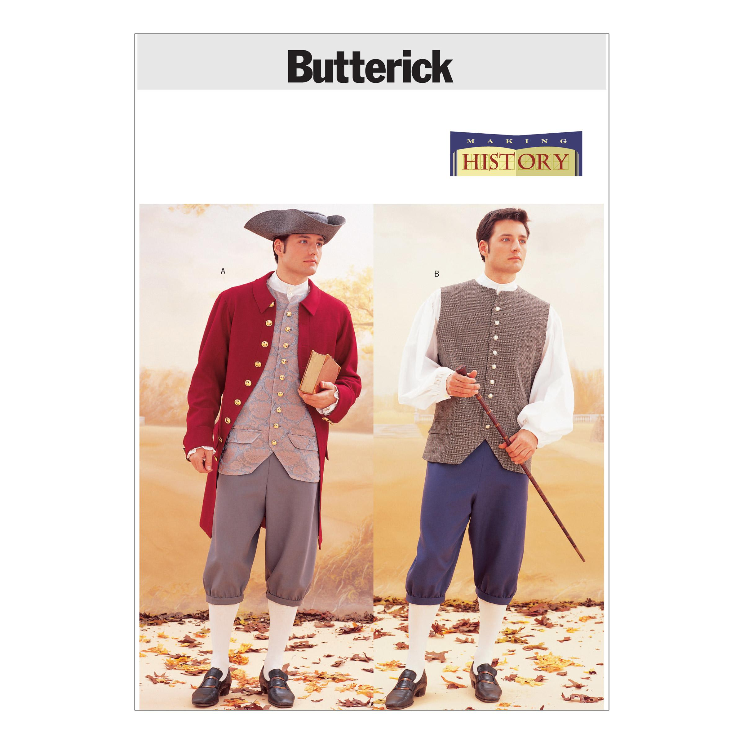 Butterick B3072 Historical Costume (Coat, Vest, Shirt, Pants and Hat)