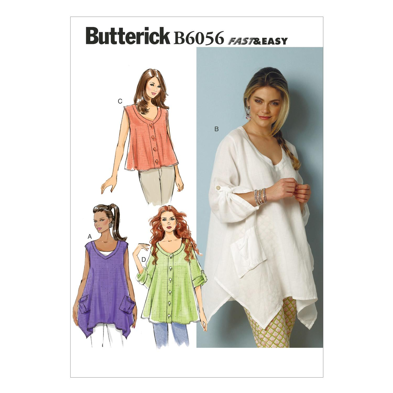 Butterick B6056 Misses' Top