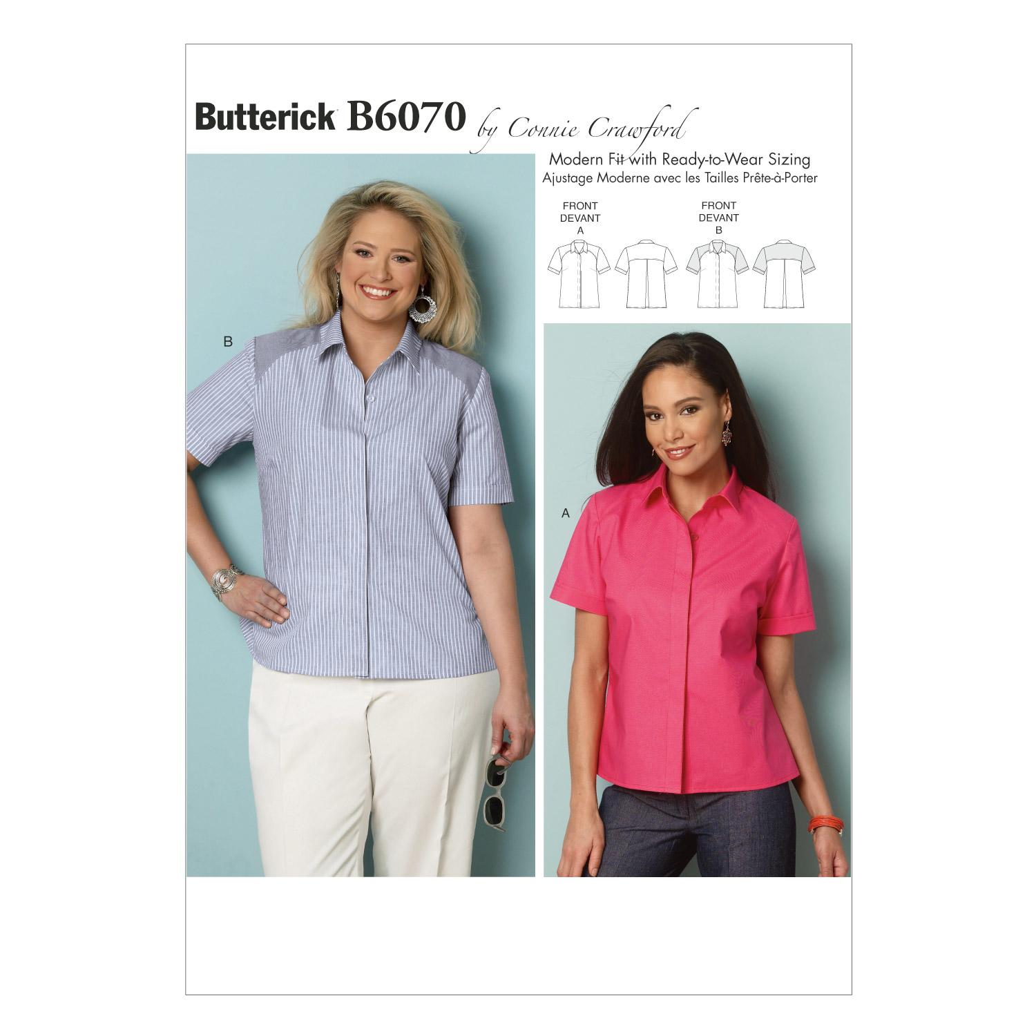 Butterick B6070 Misses'/Women's Shirt