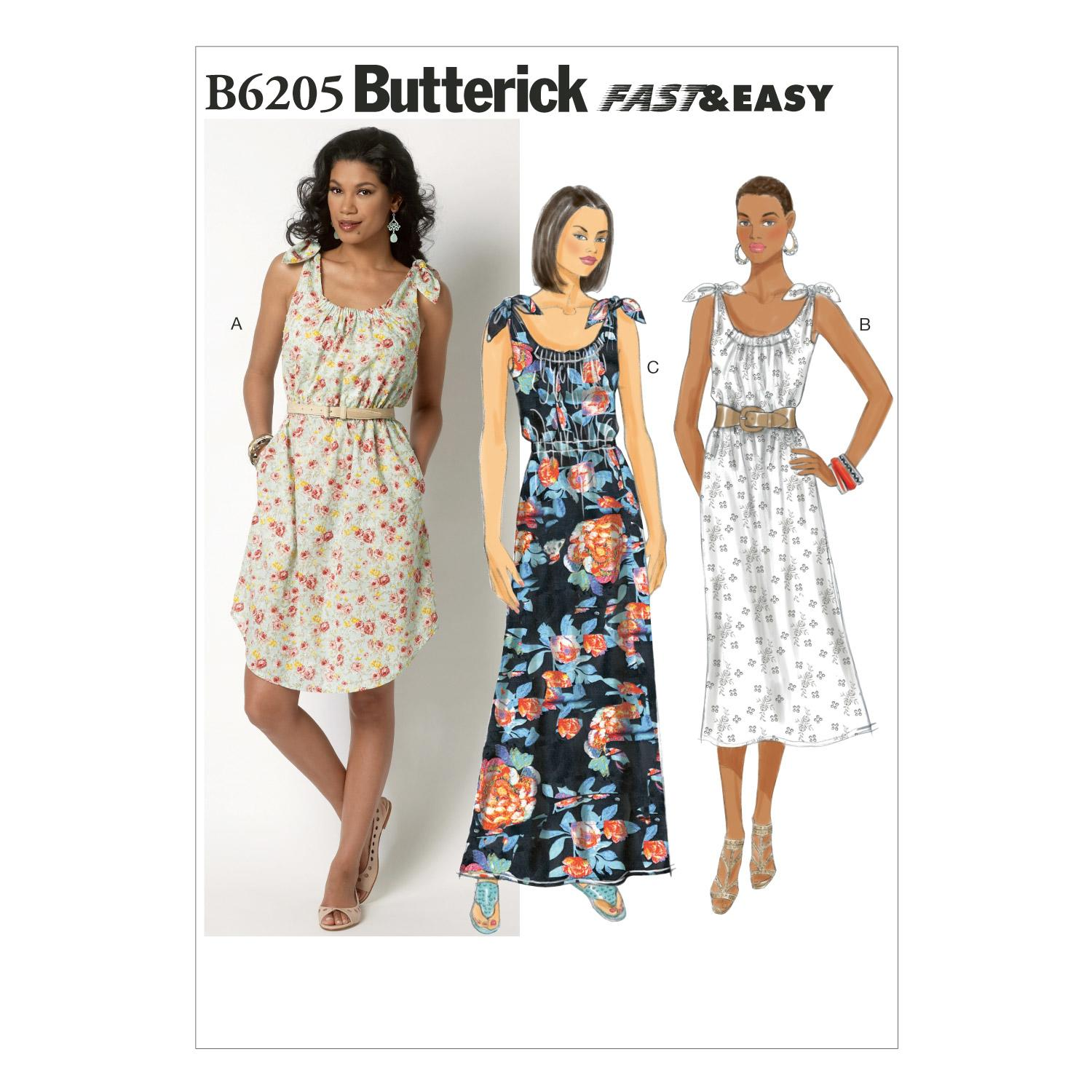 Butterick B6205 Misses' Dress