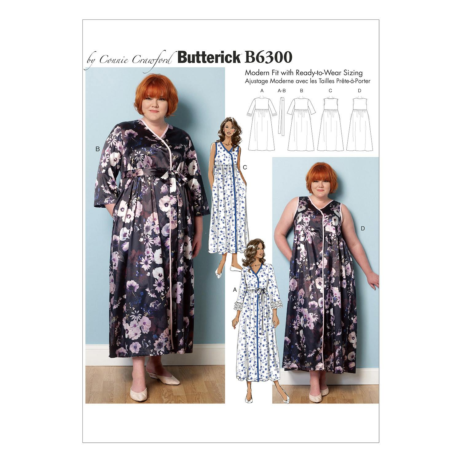 Butterick B6300 Misses'/Women's Robe, Belt and Negligee