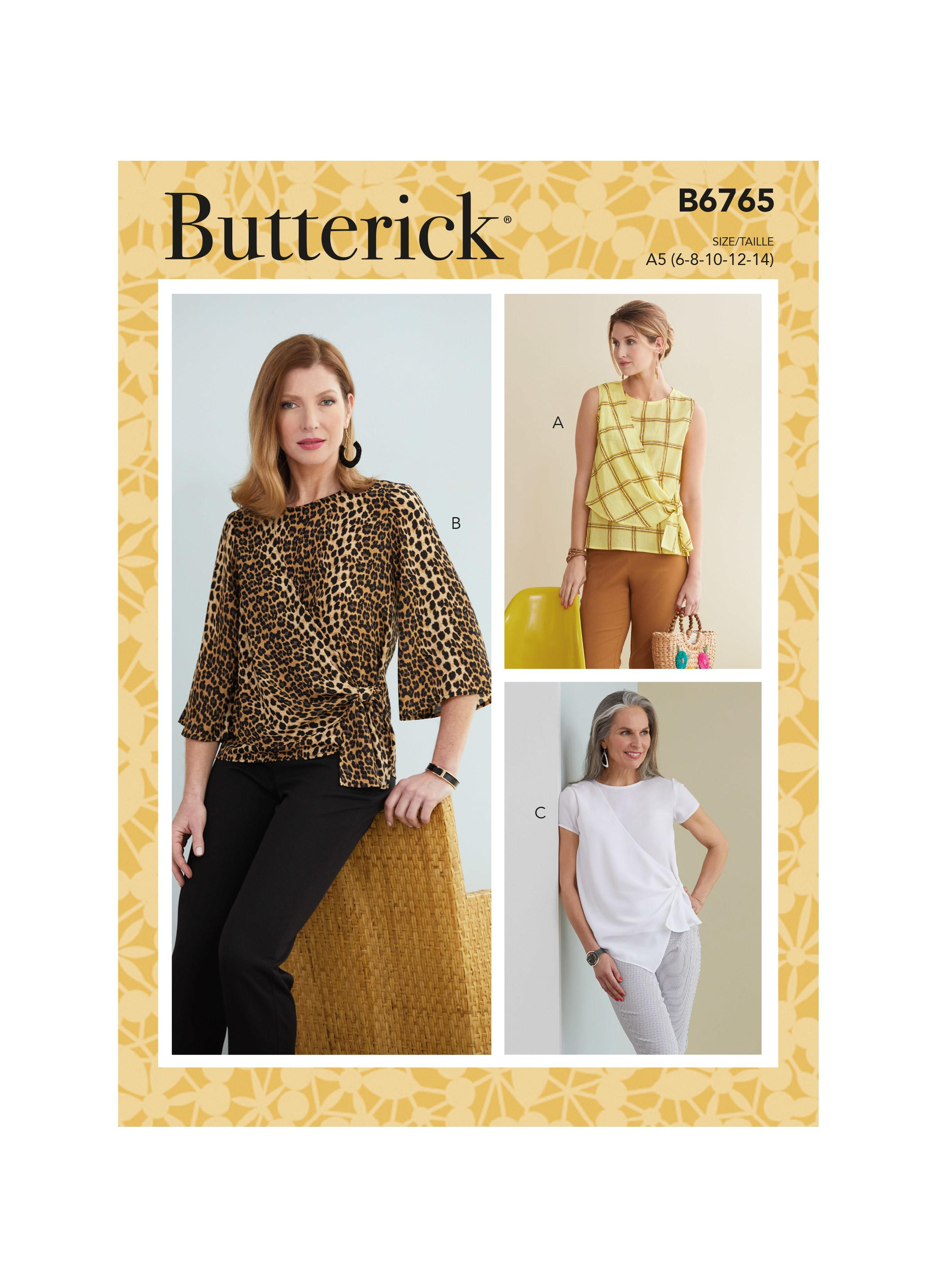 Butterick B6765 Misses' Tops