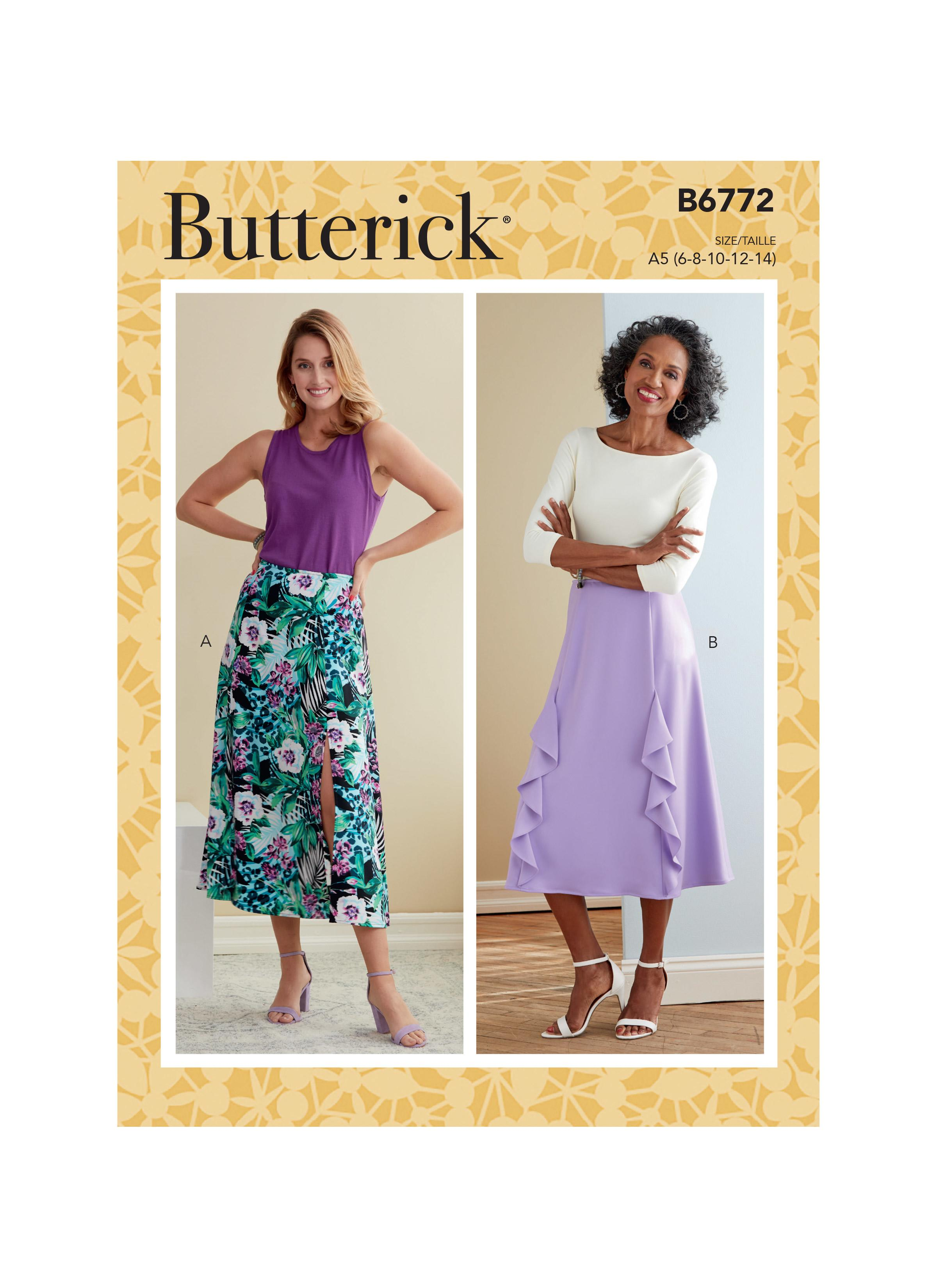 Butterick B6772 Misses' Skirt
