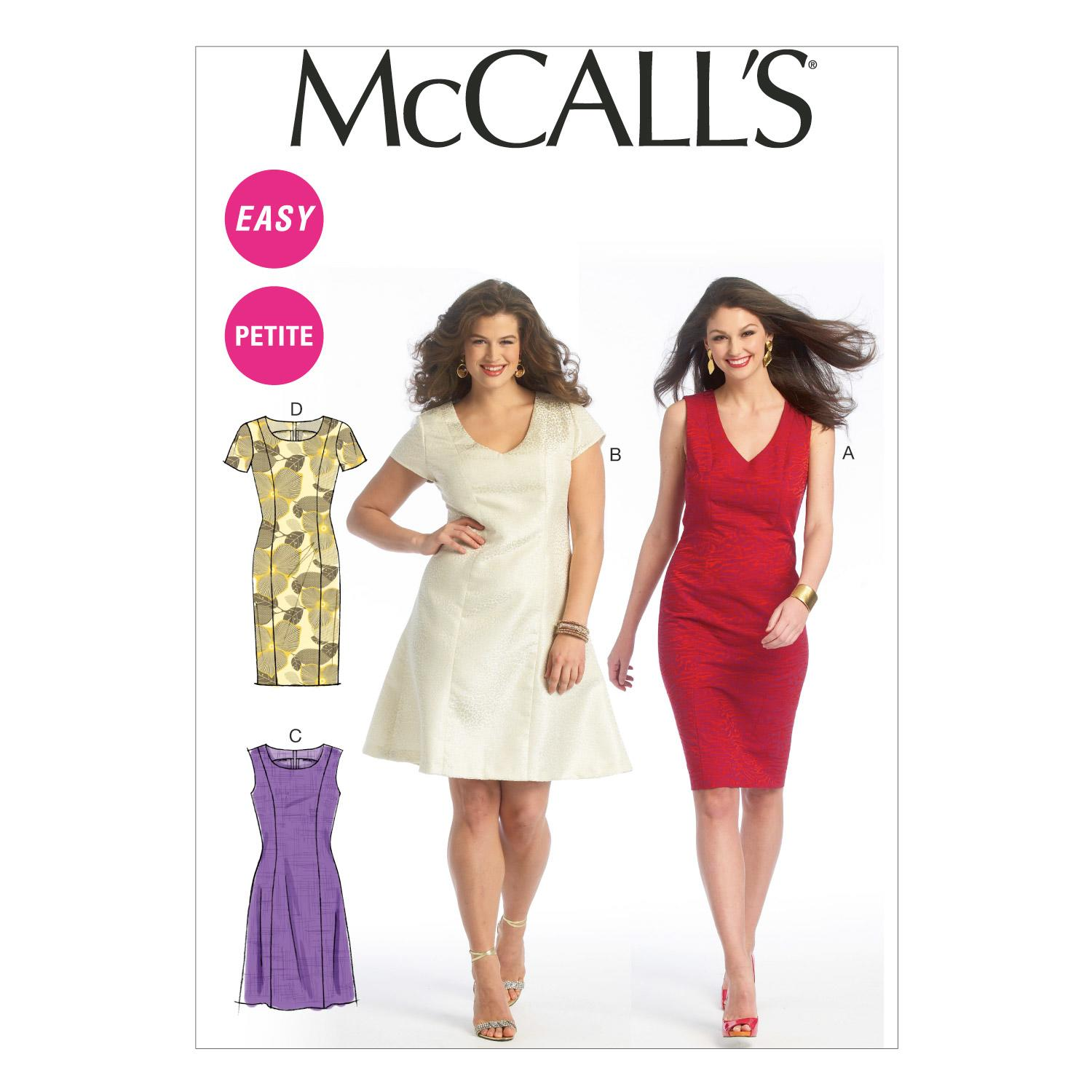 McCalls M6920 Dresses, Misses, Misses/Women/Girls, Plus Size