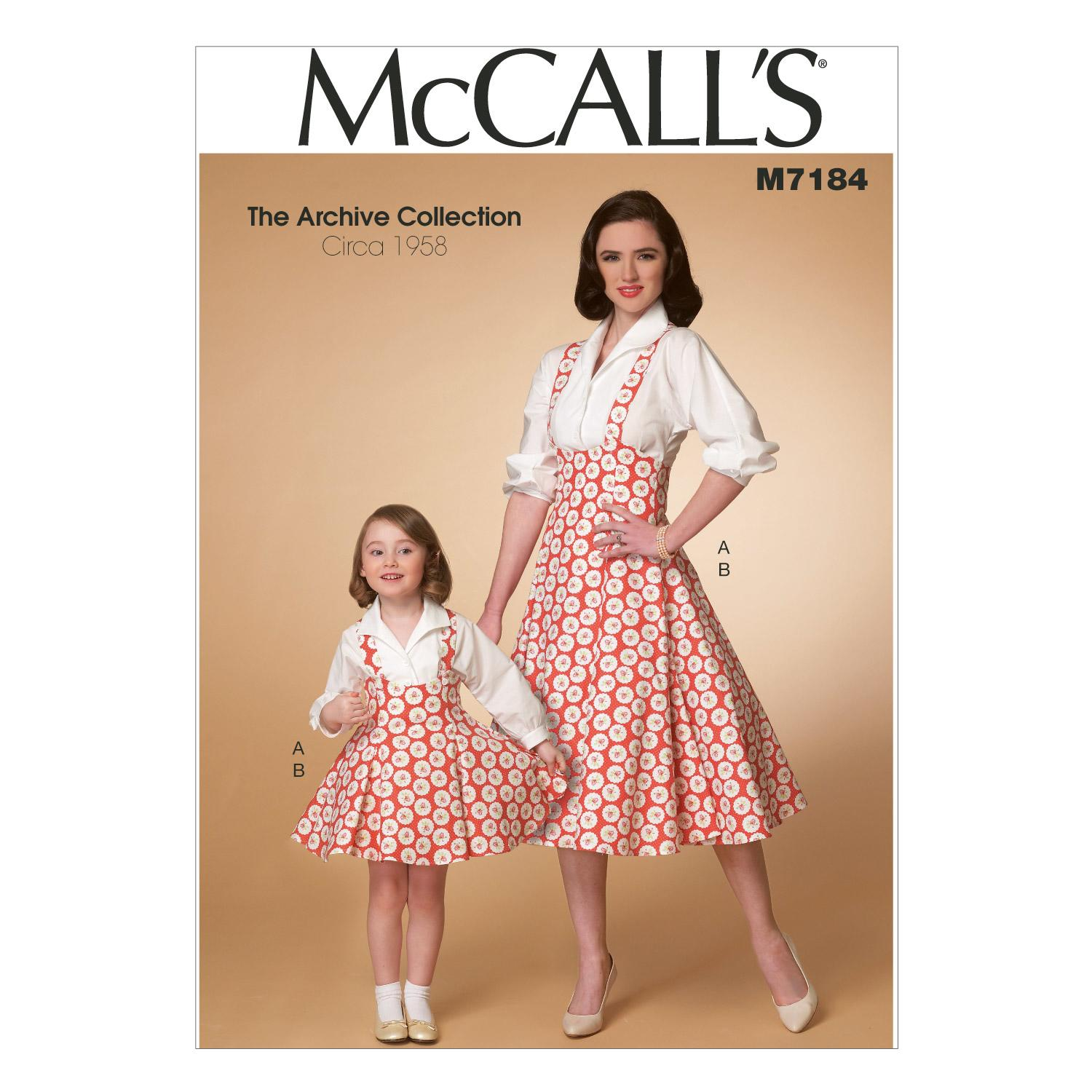 McCalls M7184 Children, Coordinates, Dresses, Girls/Boys, Halloween, The Archive Collection