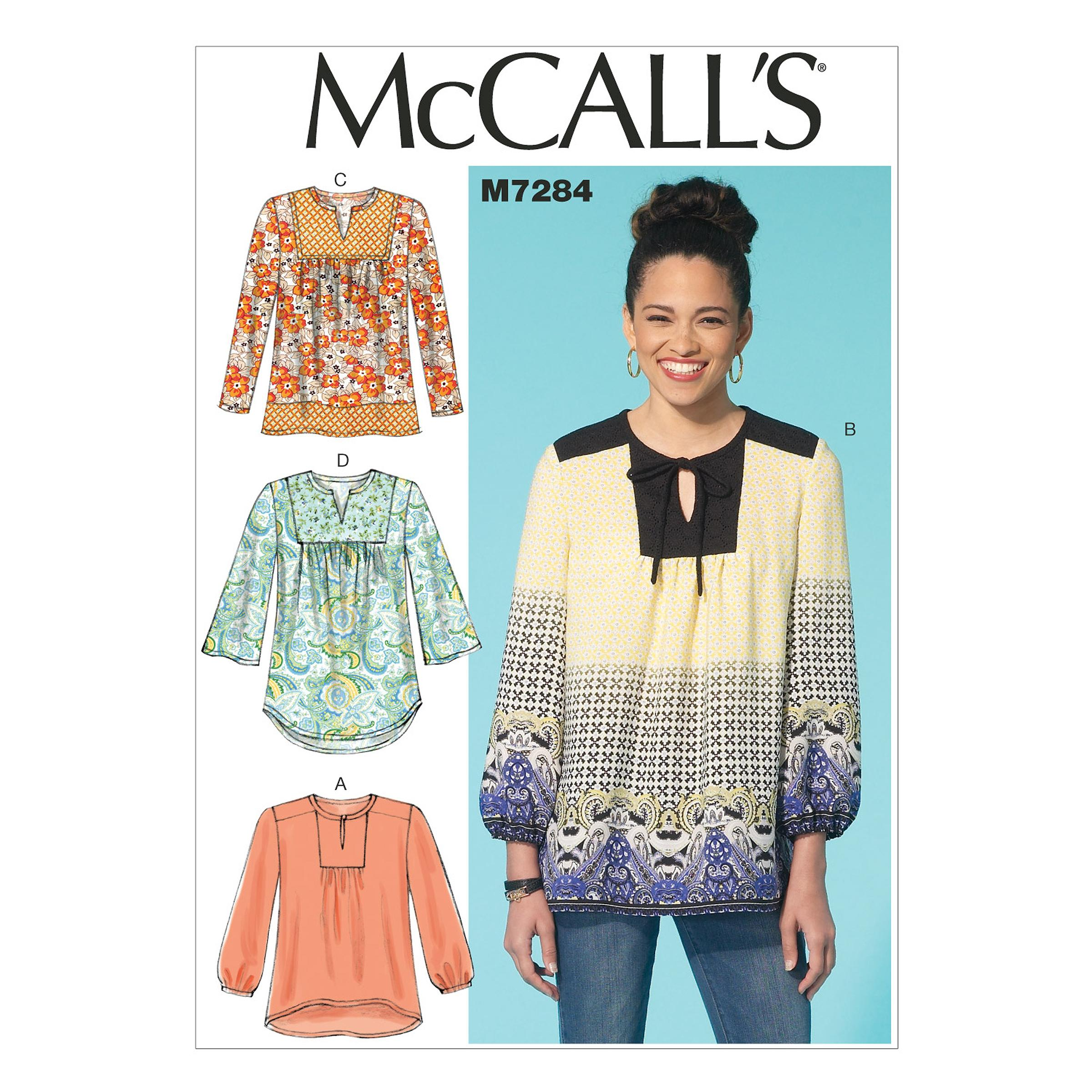 McCalls M7284 Tops/Tunics