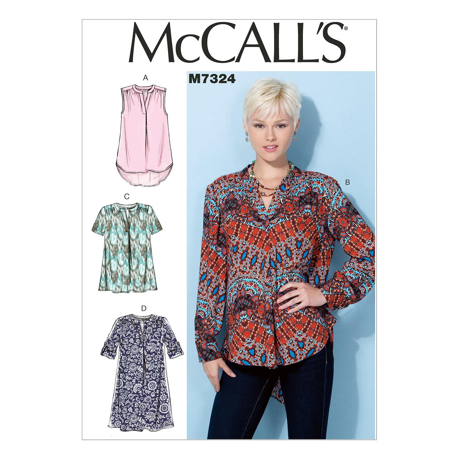 McCalls M7324 Tops/Tunics