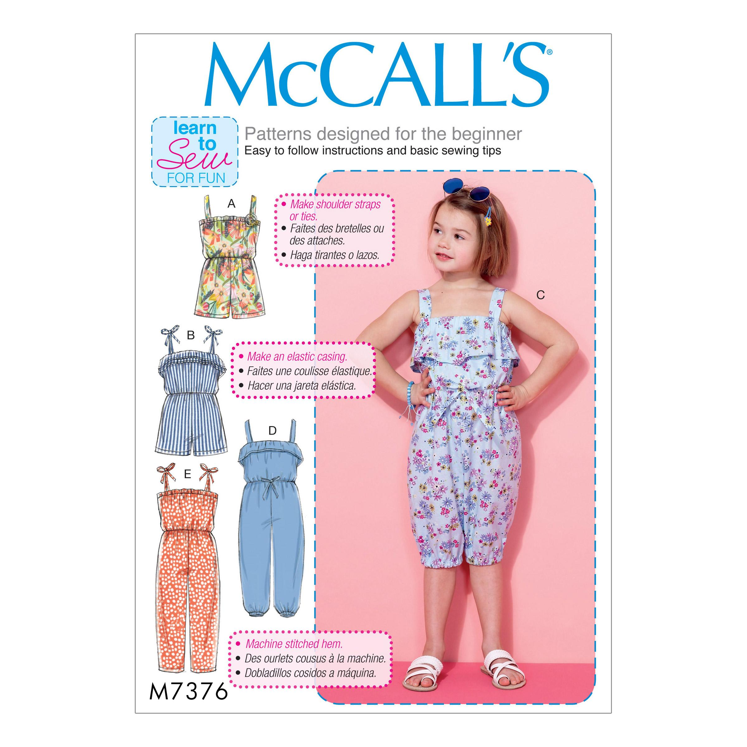 McCalls M7376 Kids Girls & Boys, Kids Children