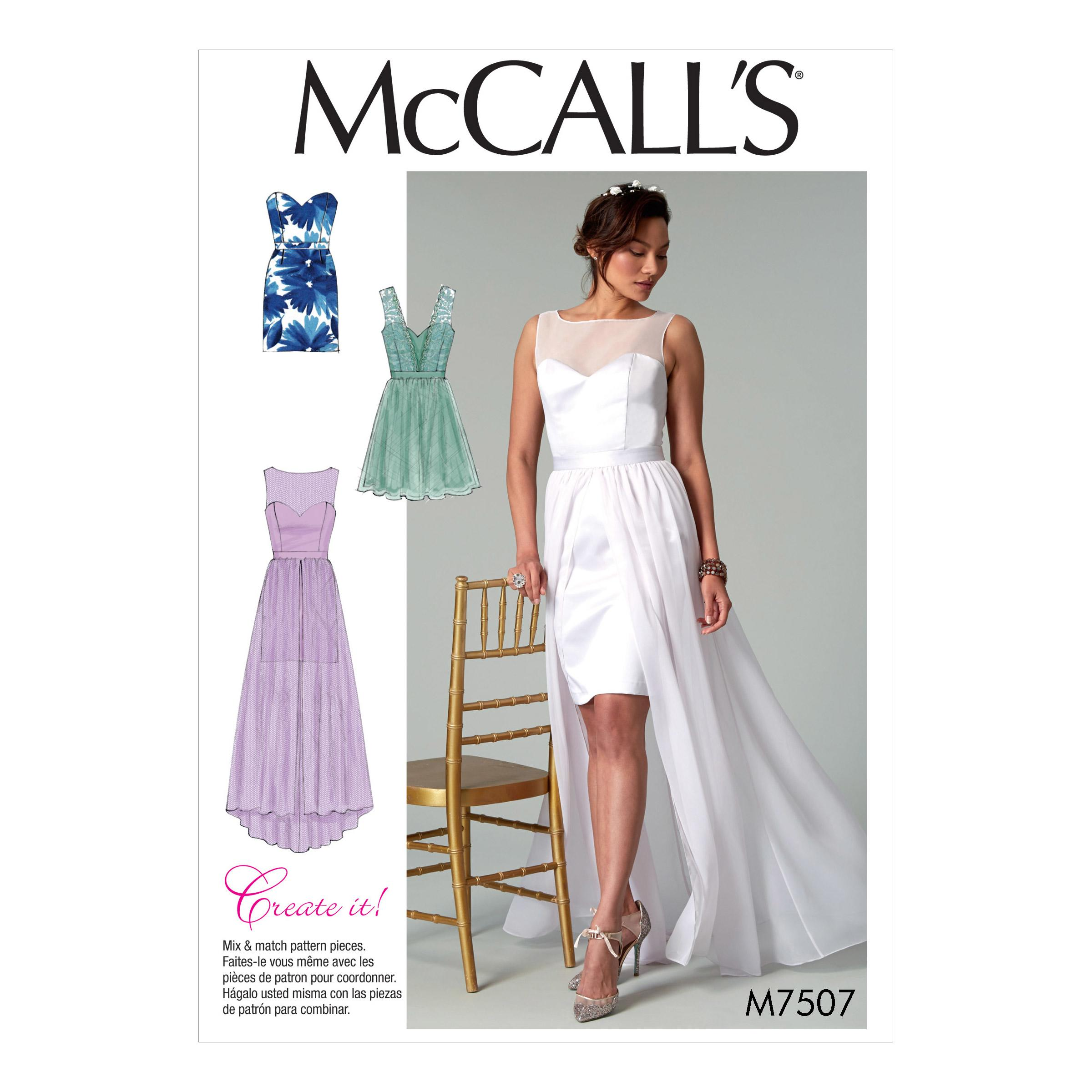McCalls M7507 Misses Dresses, Misses Prom, Evening & Bridal