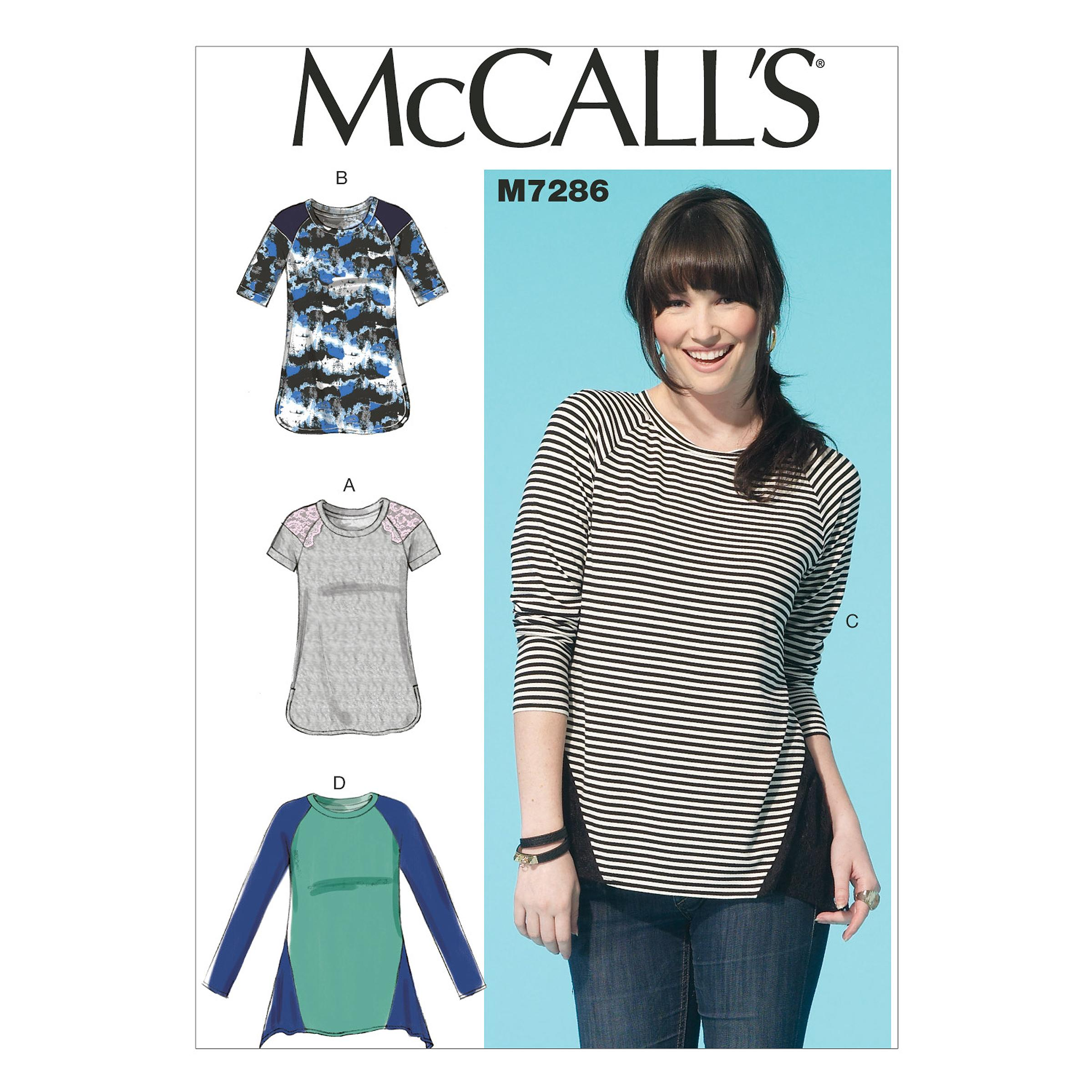 McCalls M7286 Tops/Tunics