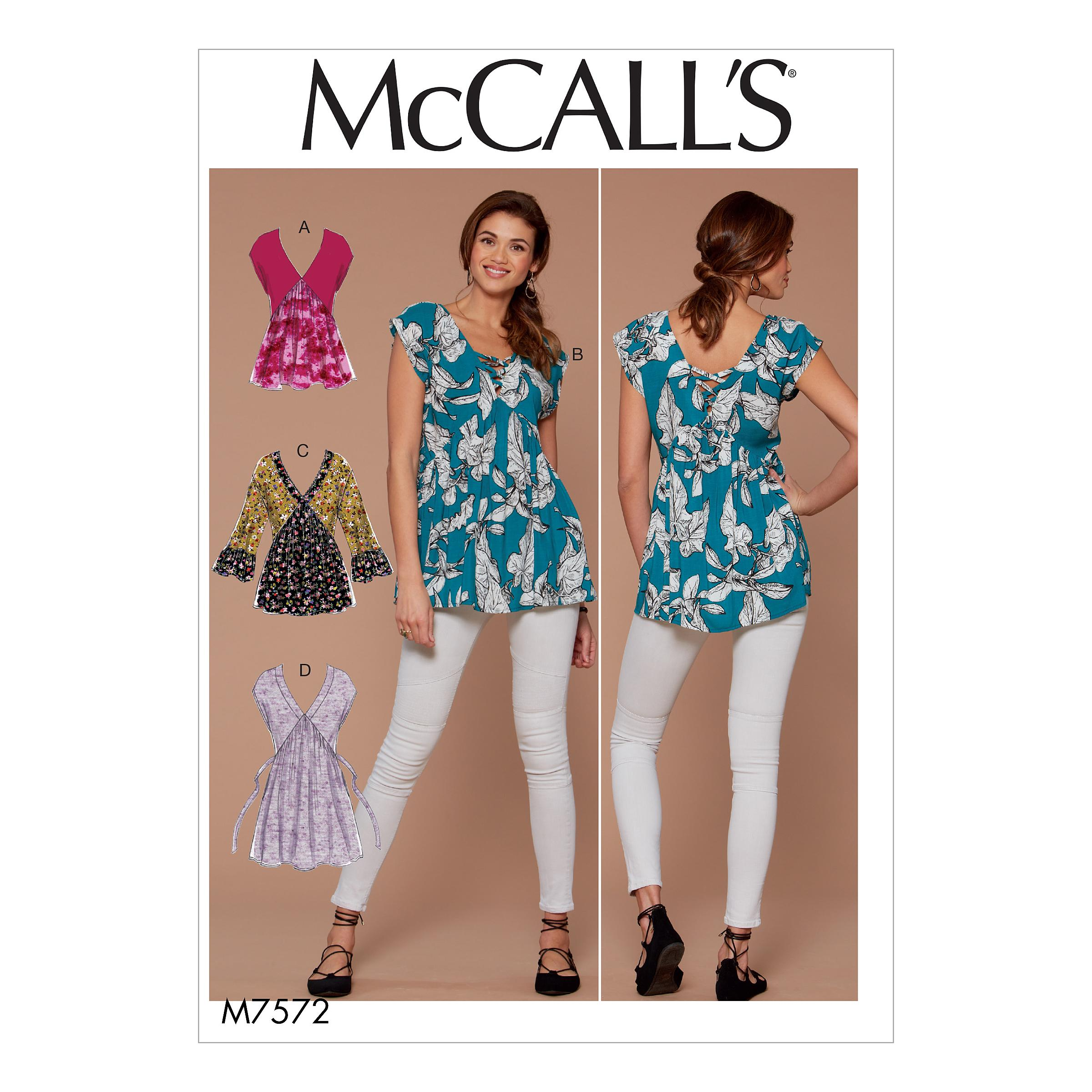 McCalls M7572 Misses Tops