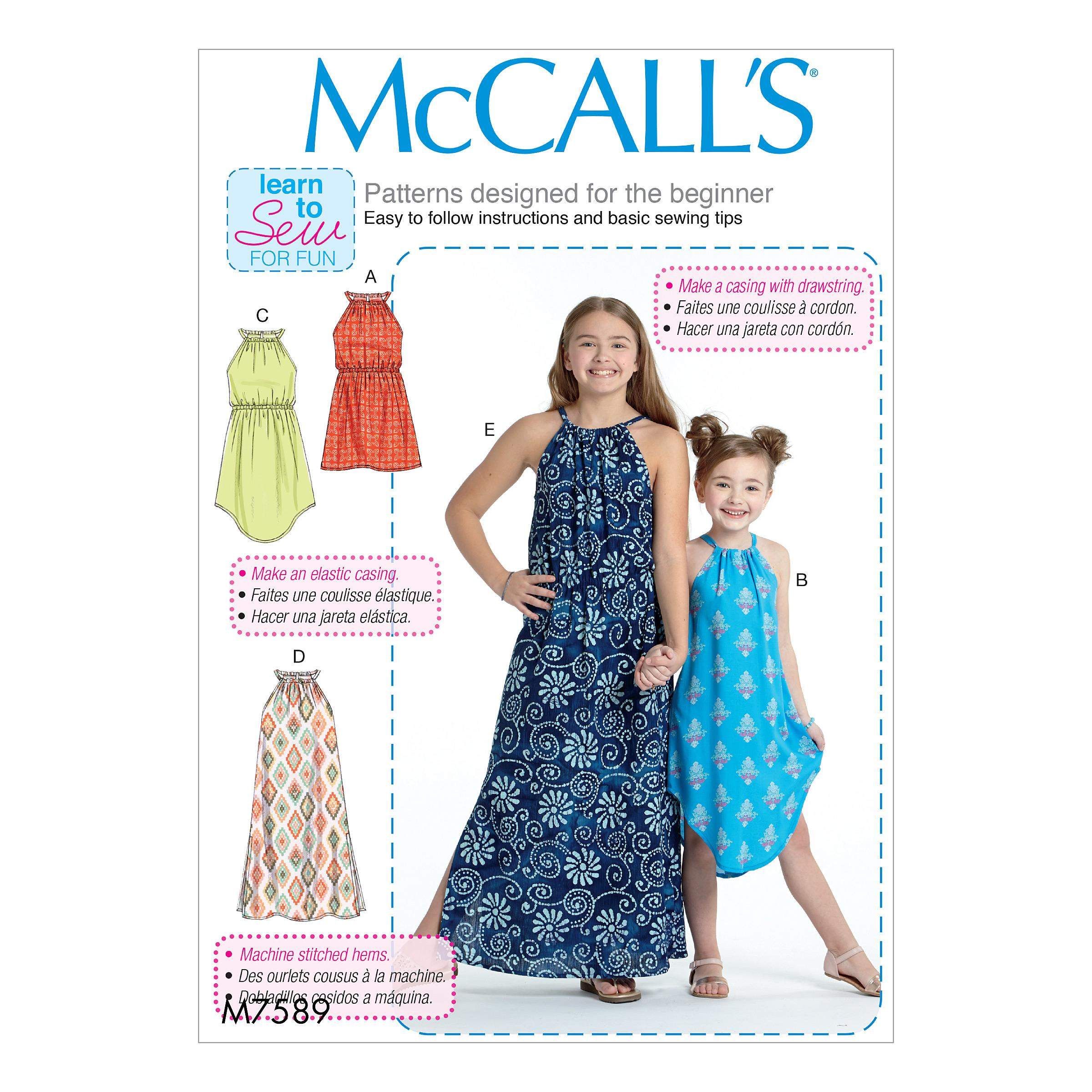 McCalls M7589 Kids Girls & Boys, Kids Children