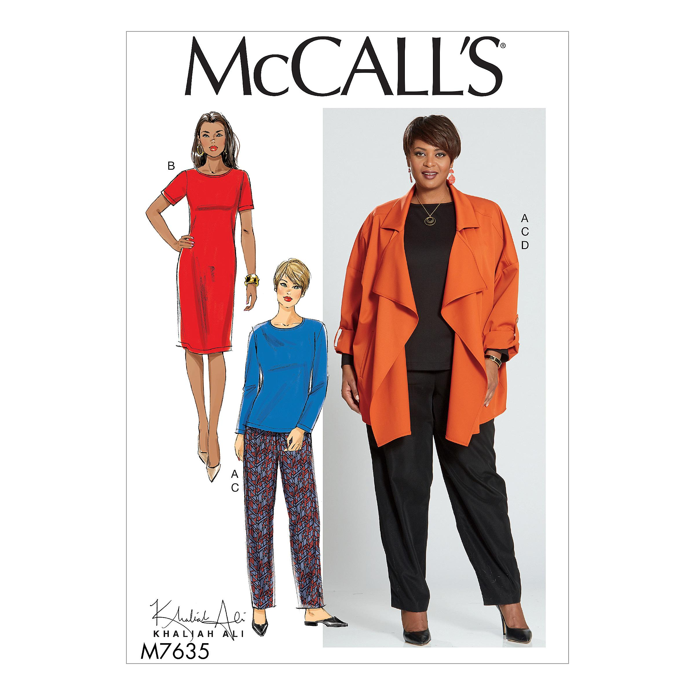 McCalls M7635 Misses Coordinates, Misses Dresses, Misses Jackets & Vests, Misses Pants, Jumpsuits & Shorts, Misses Tops, Plus Sizes